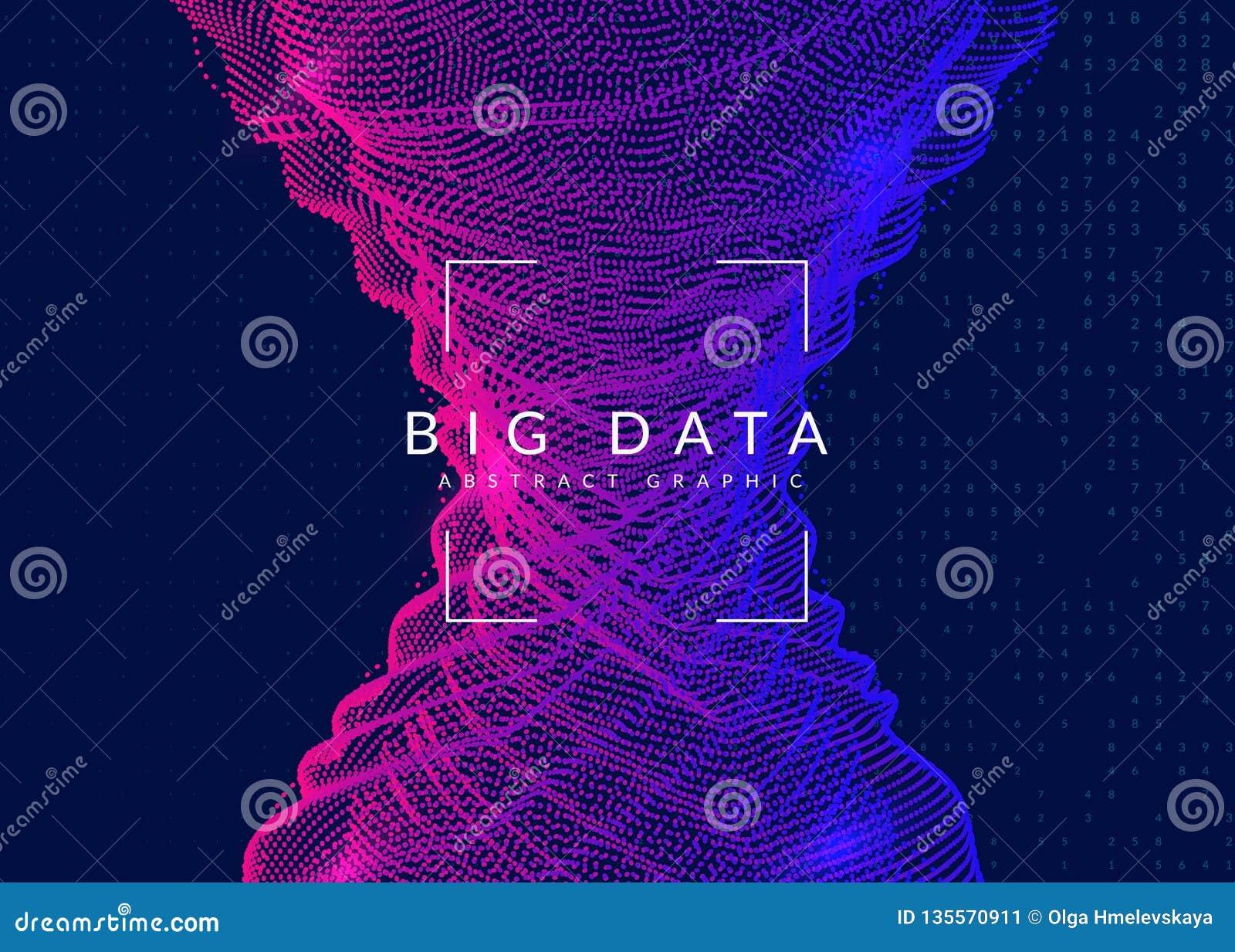 Большая предпосылка данных Технология для визуализирования, искусственная внутри