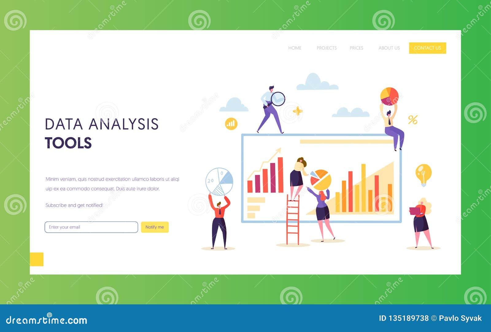Большая страница посадки диаграммы анализа данных цифров выходя на рынок Результат стратегии Seo анализируя презентационное прогр