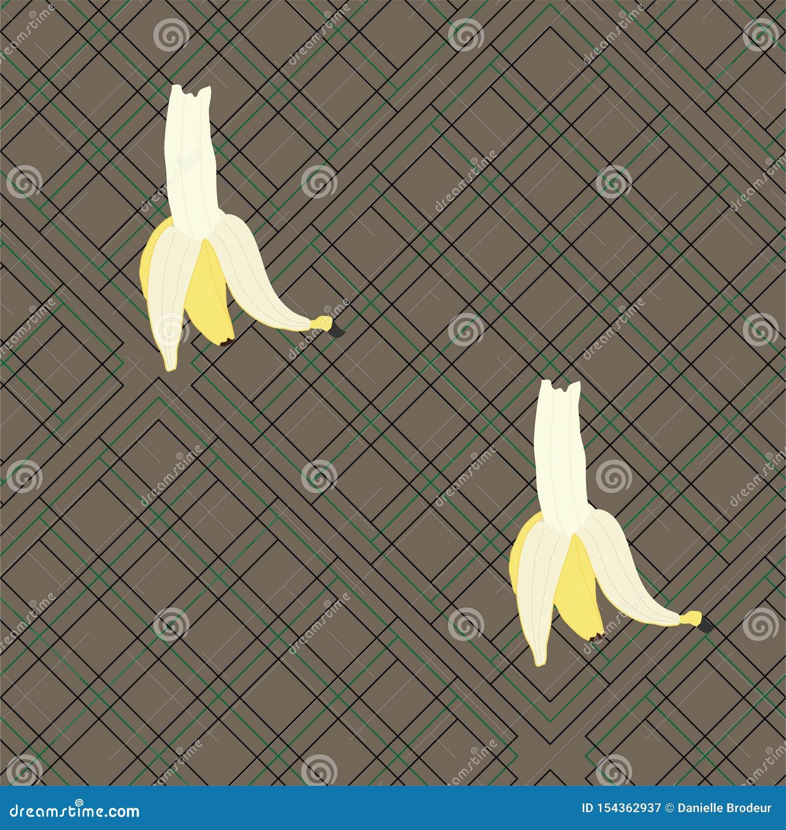 Большие бананы на шотландке