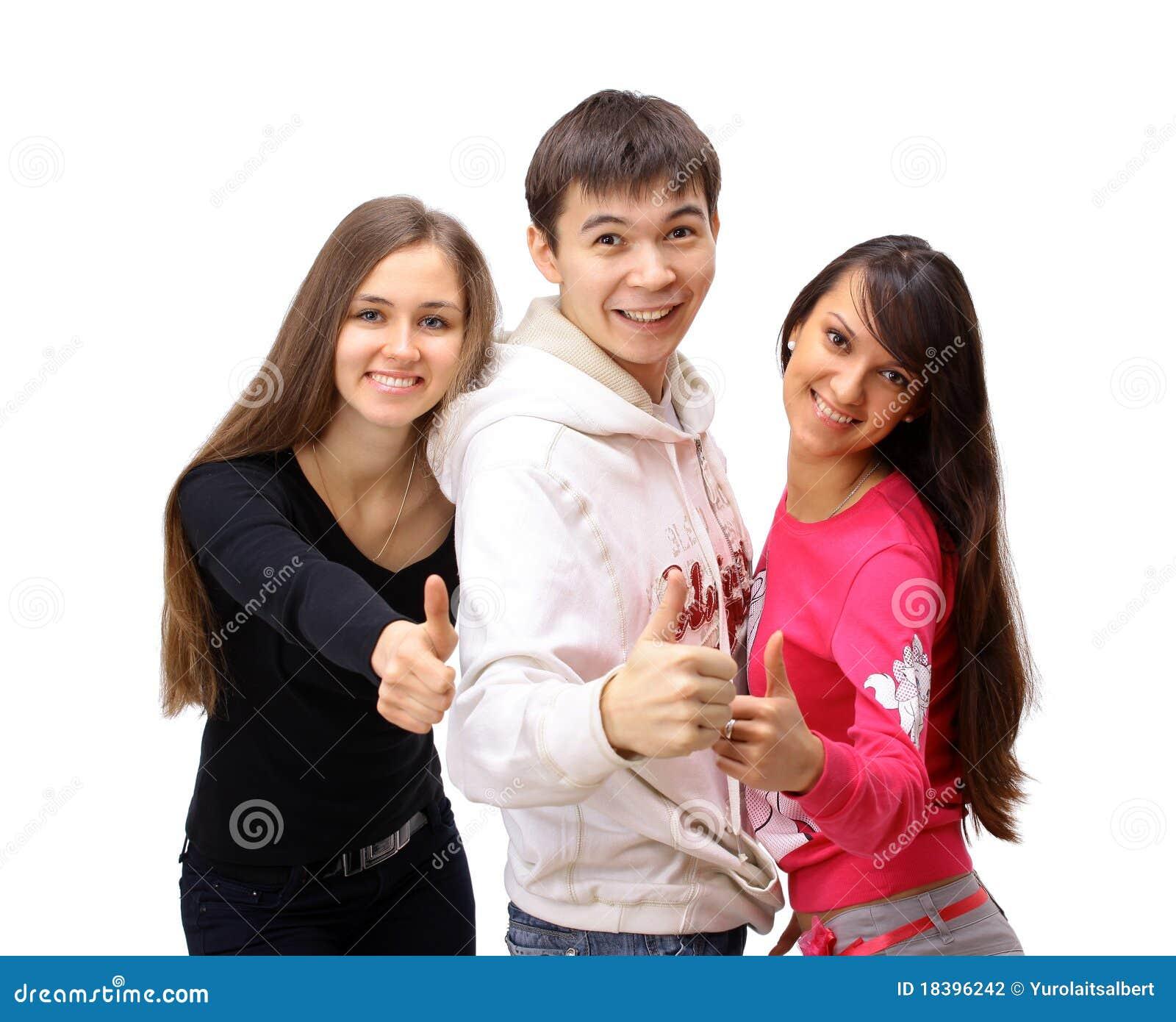 большие пальцы руки людей группы