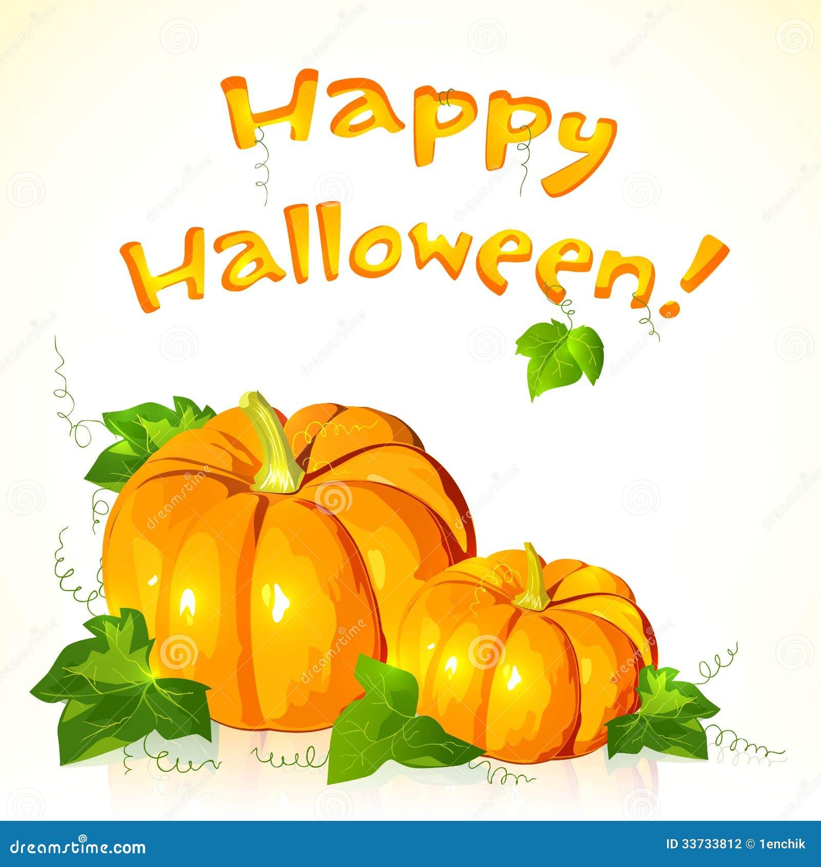 Большие тыквы вектора хеллоуина с знаком