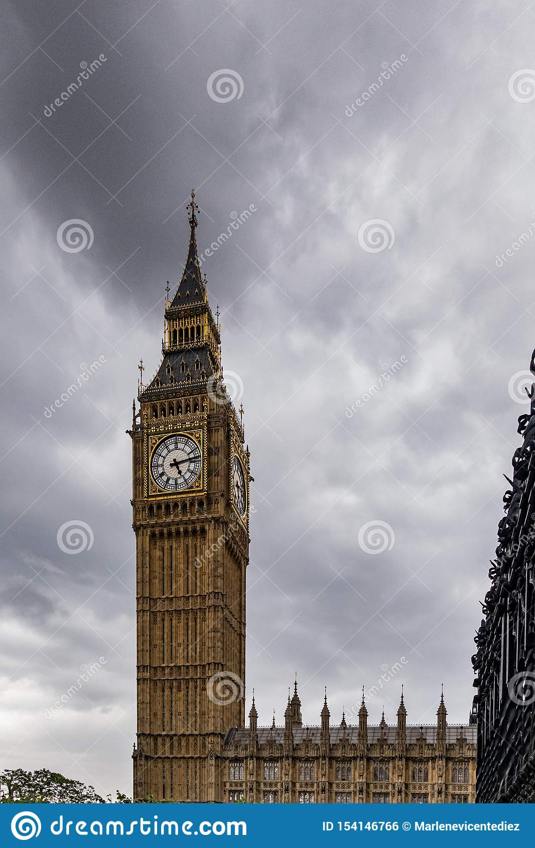 Большое Бен в Лондоне Англия Великобритания