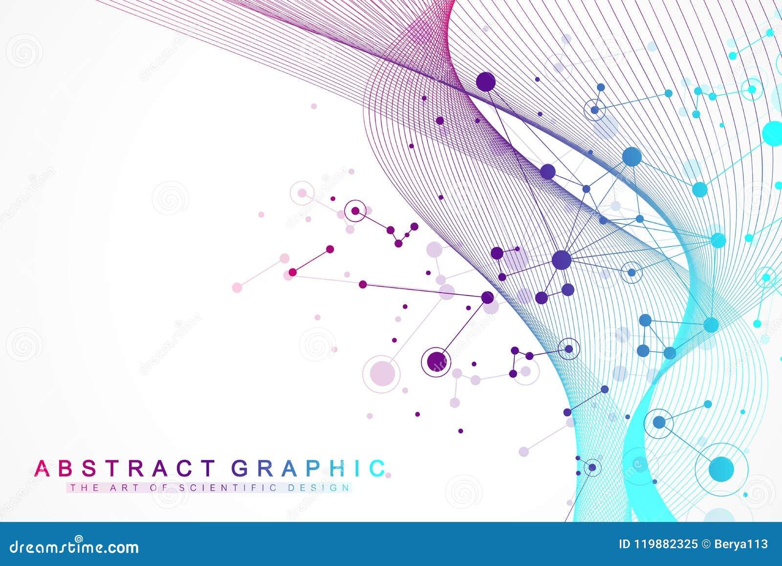 Большое визуализирование данных Искусственный интеллект и концепция машинного обучения Графическая абстрактная связь предпосылки