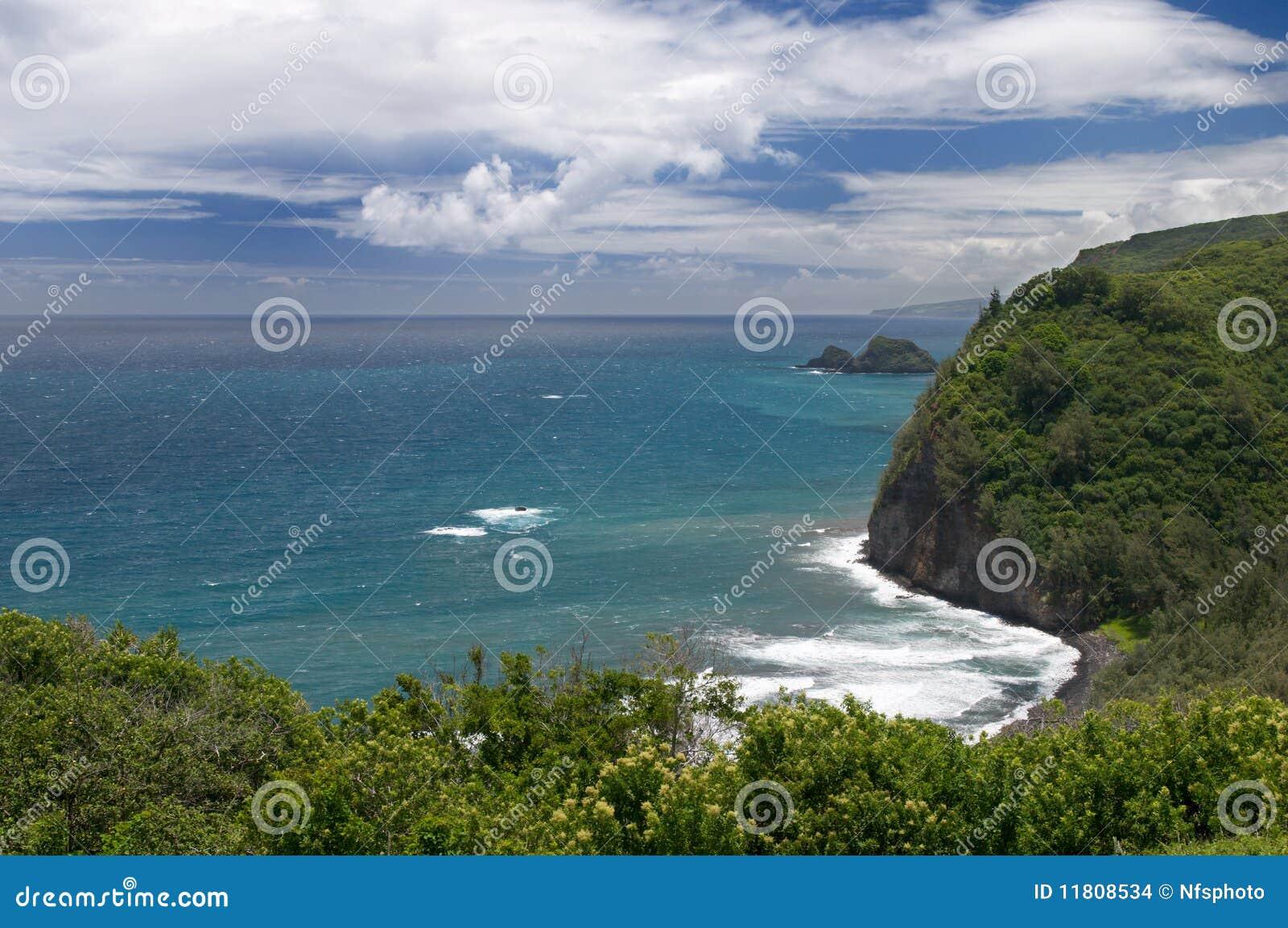 большой взгляд pololu бдительности острова Гавайских островов