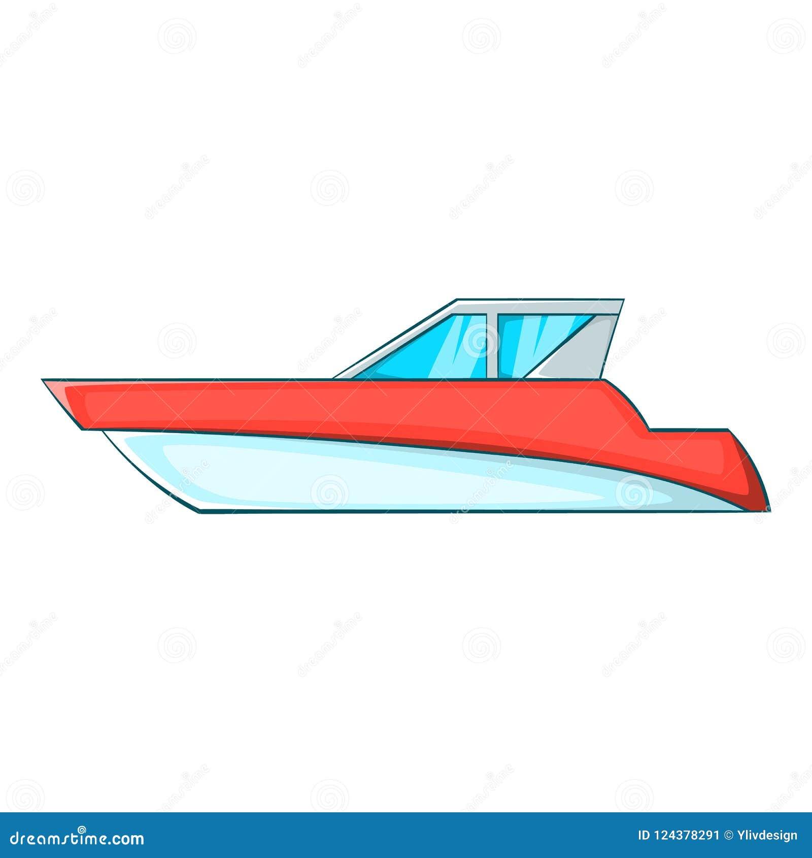 Большой значок powerboat, стиль шаржа