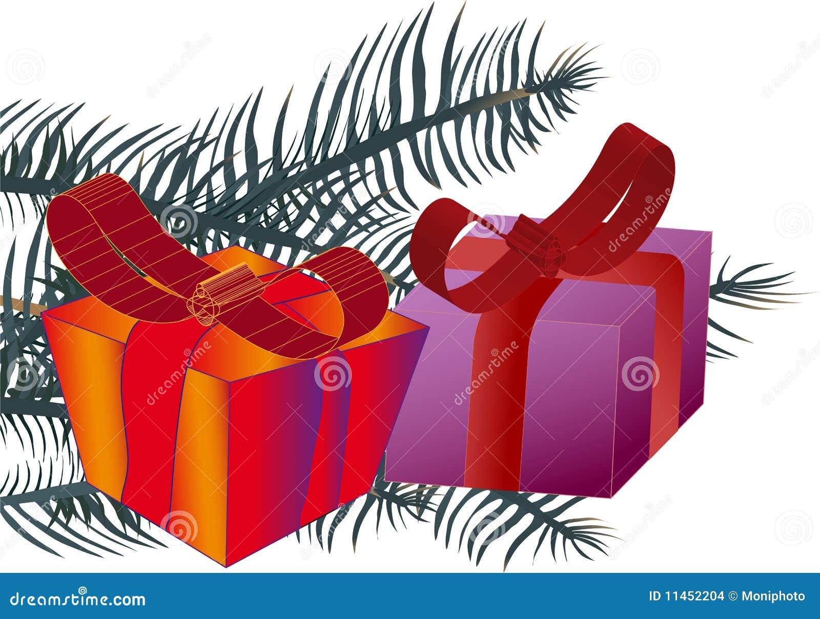 большой сярприз иллюстрации подарка коробки