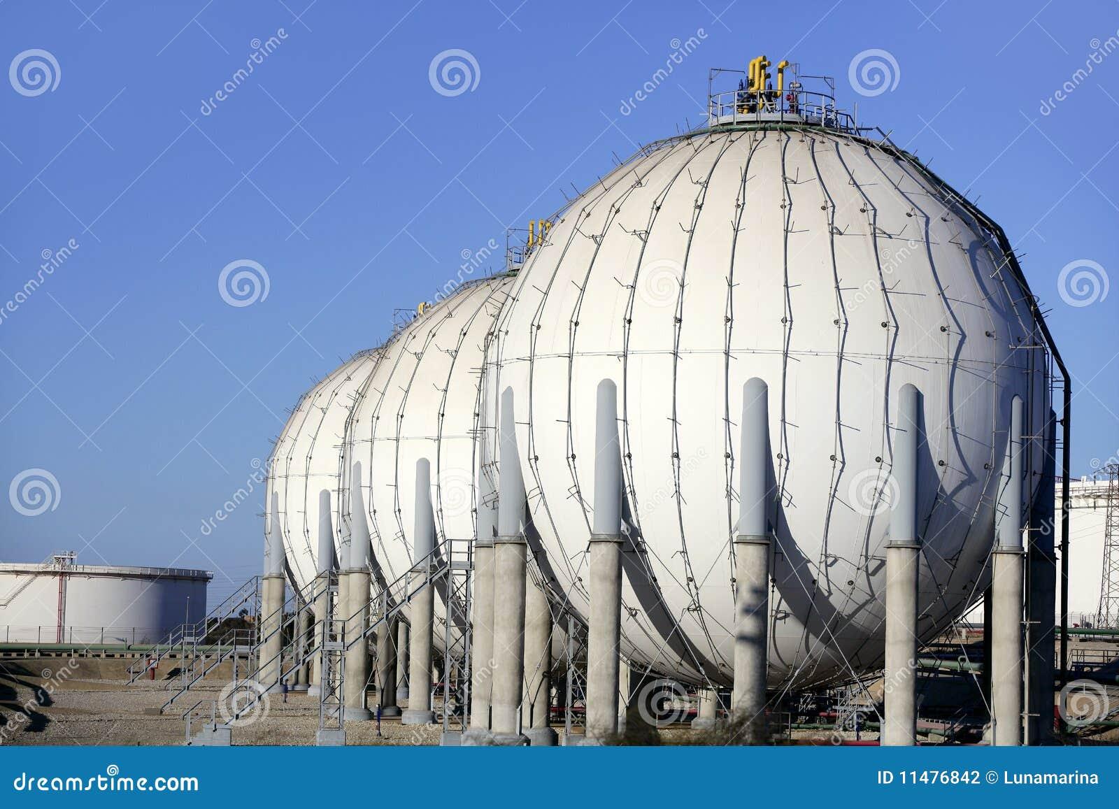 большой химический бак нефти масла индустрии контейнера