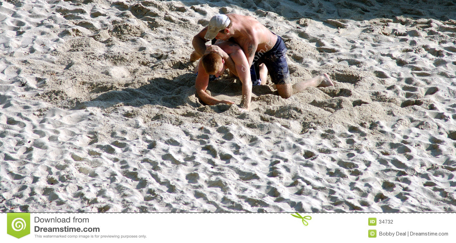 борцы песка