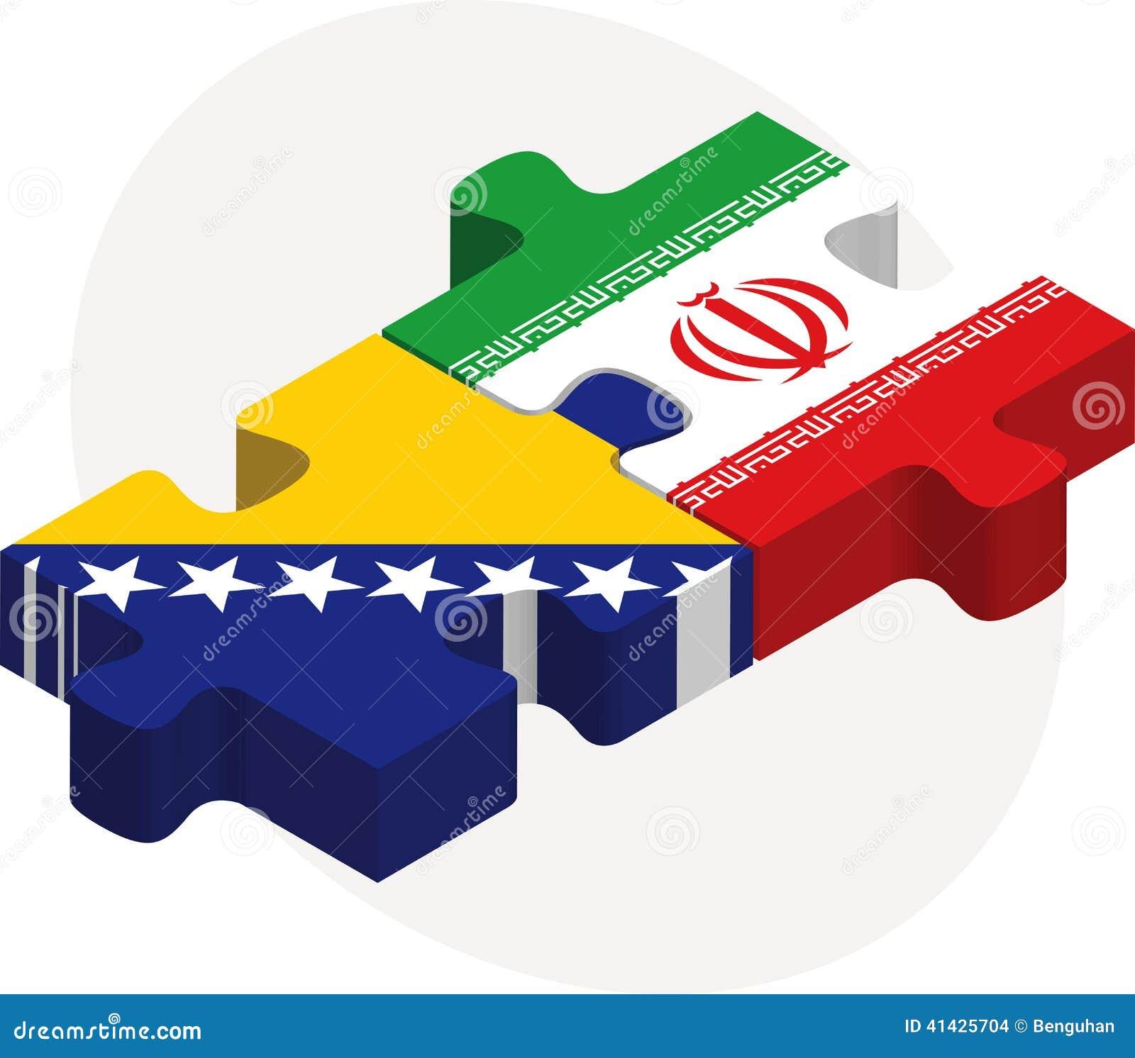 Босния Herzegovinan и флаги иранца в головоломке