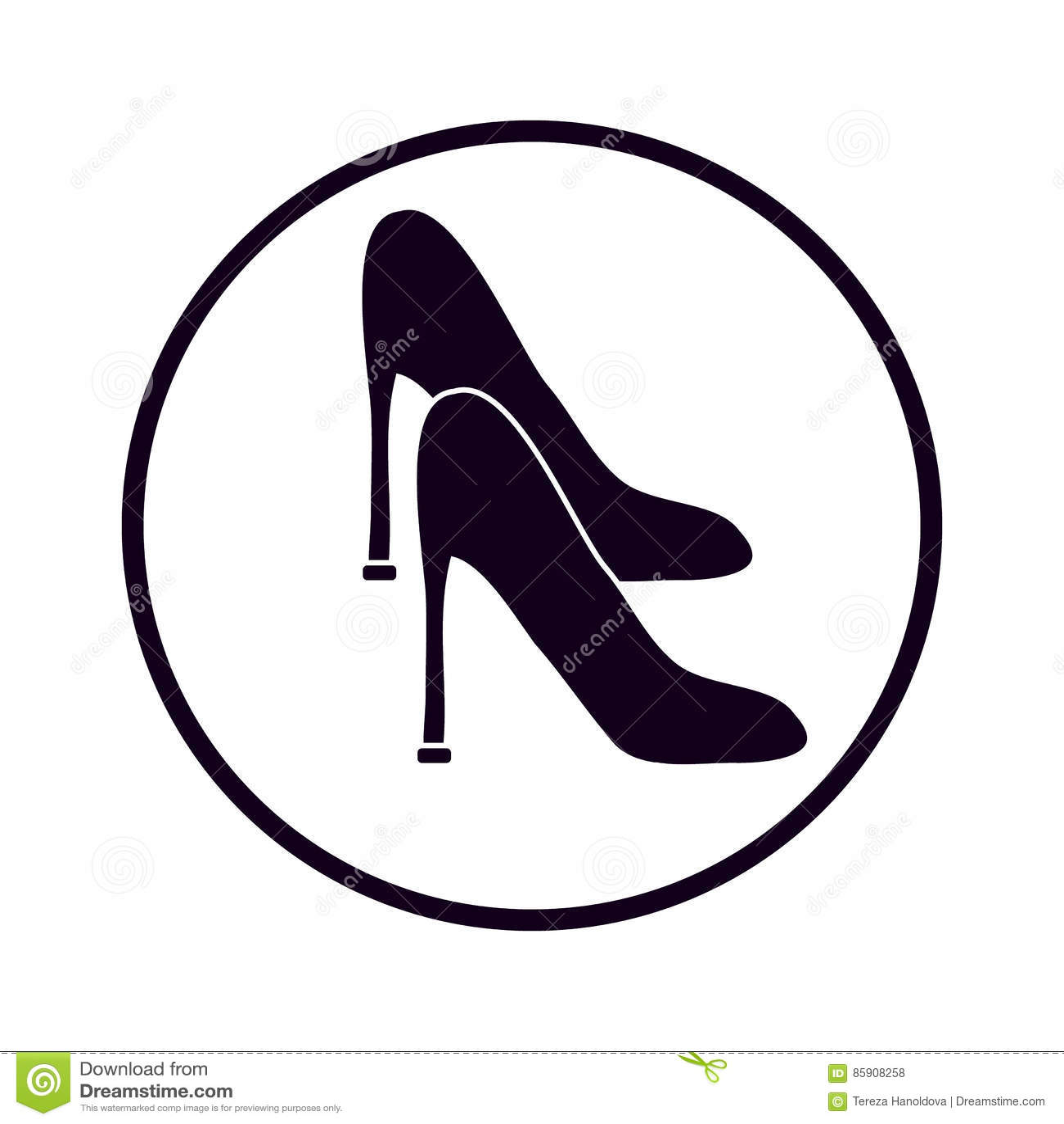 Ботинок ` s женщин на белой предпосылке