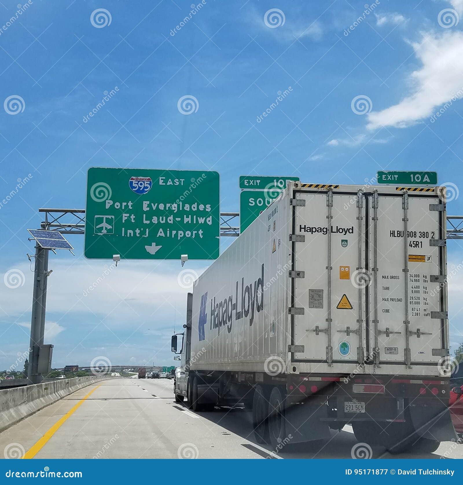 Болотистые низменности порта Fort Lauderdale тележки 595 Hapag Ллойд