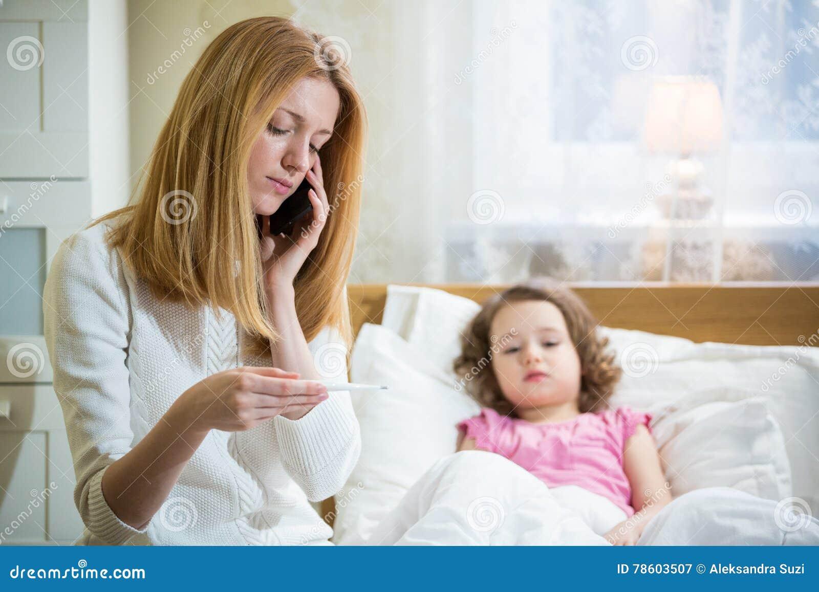 больной лихорадки ребенка