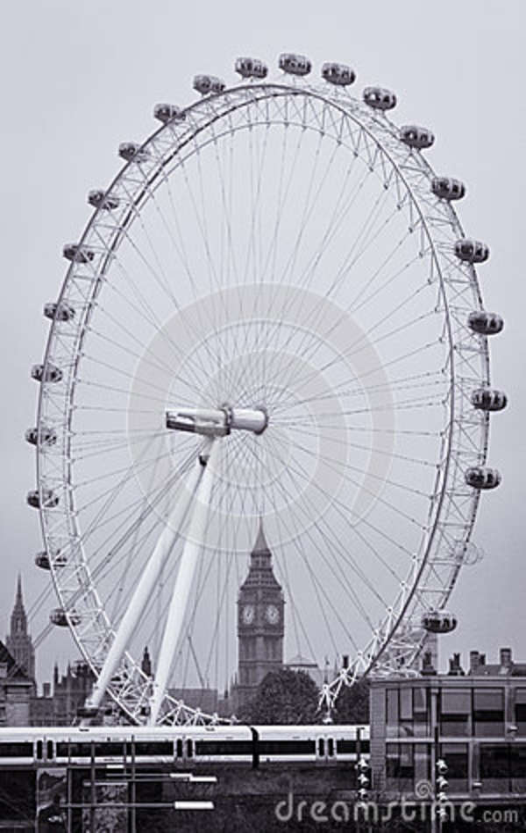 Большое Бен через глаз Лондона
