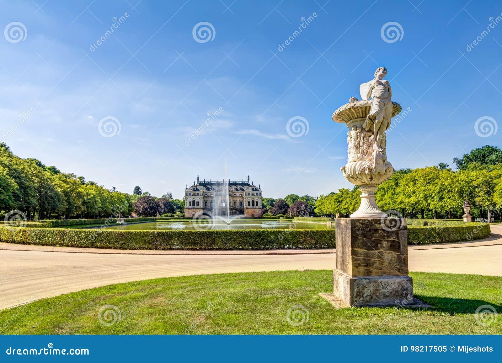 Большой дворец Дрезден сада