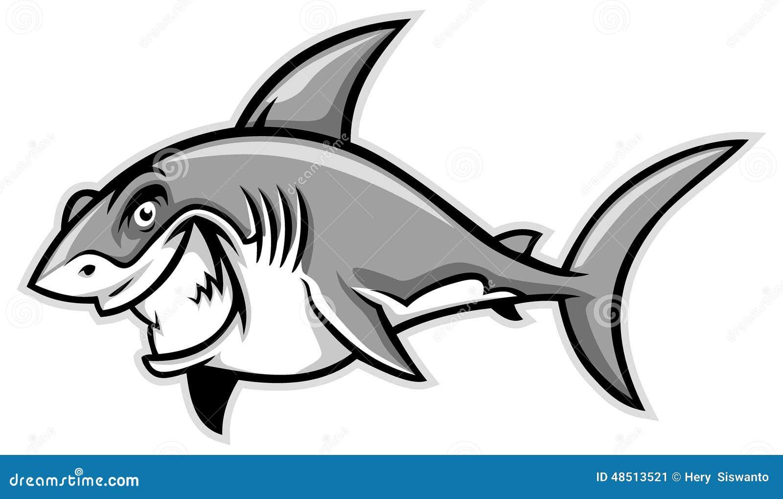 Большой усмехаться белой акулы