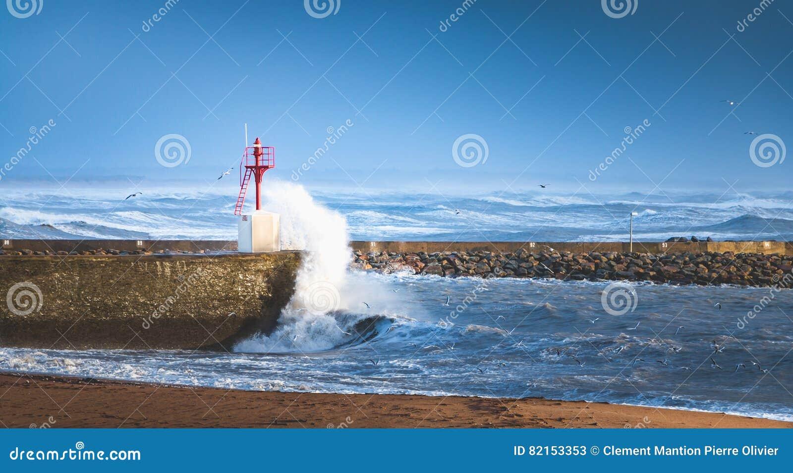 Большой шторм на порте