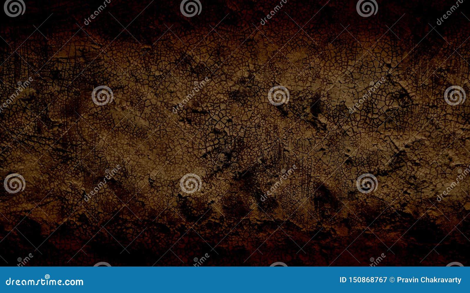 Браун затенял предпосылку grunge текстурированную стеной