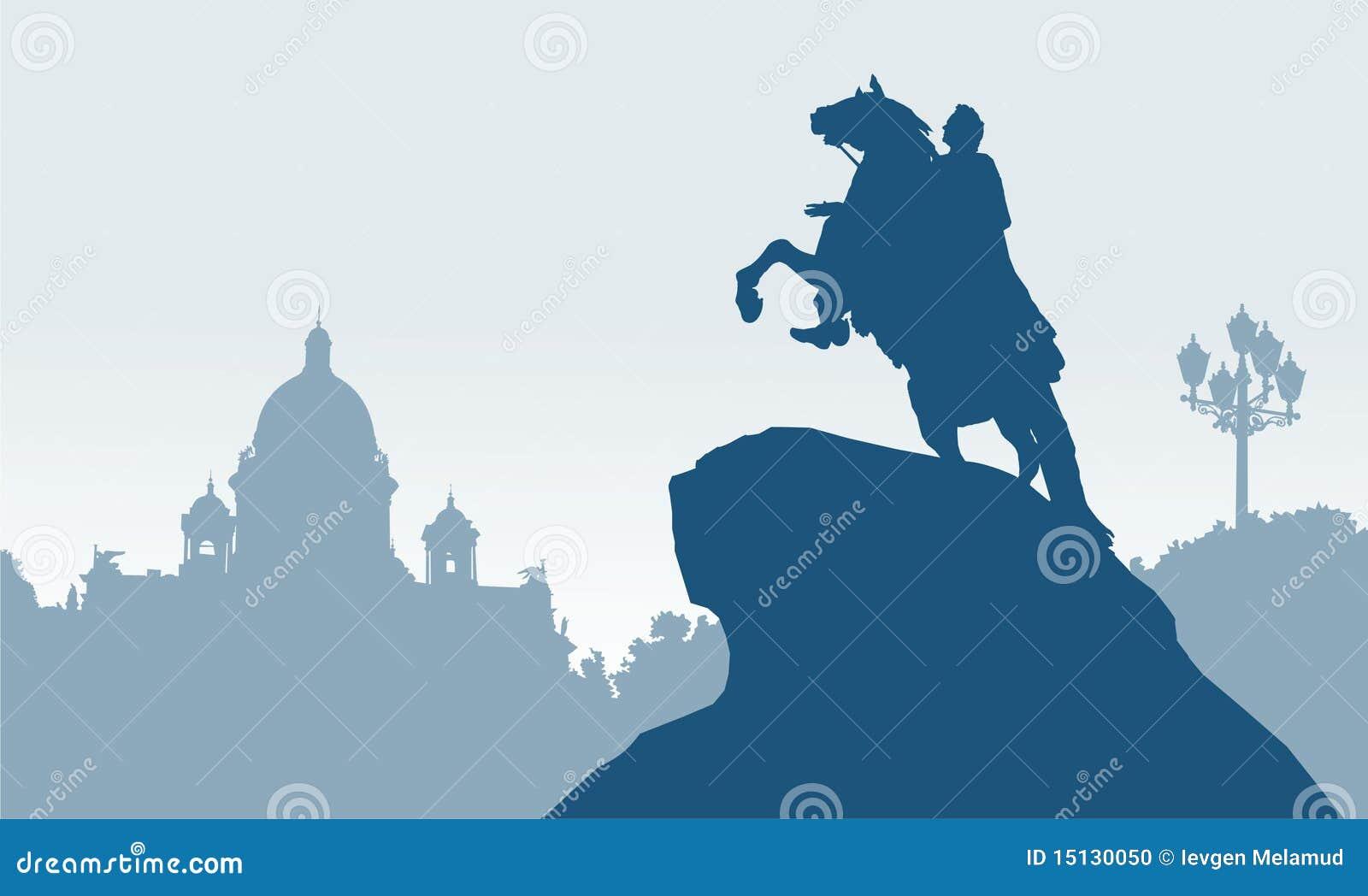 бронзовое святой petersburg России наездника