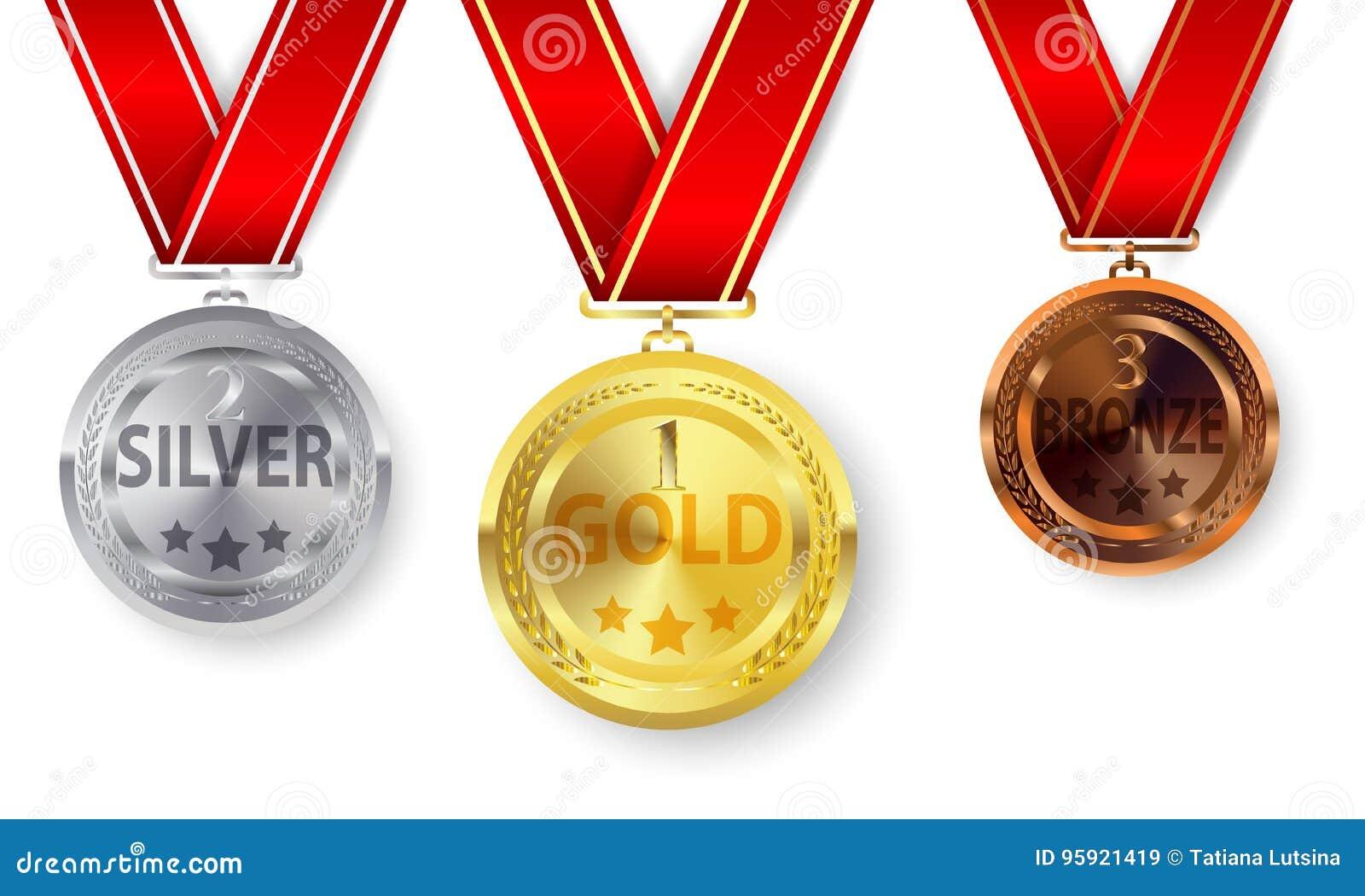 бронзовыми серебр установленный золотыми медалями
