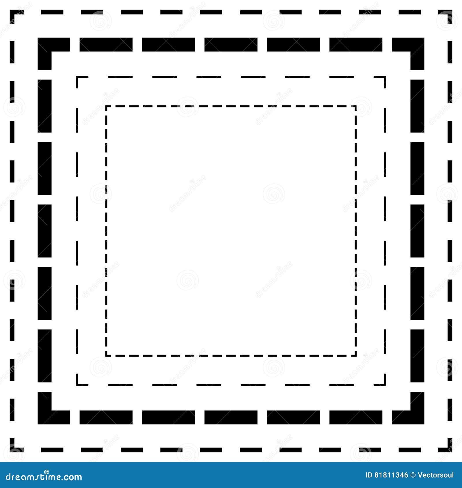 Брошенная линия квадраты Тонкие и толстые линии Линии отрезка, отрезок квадрата