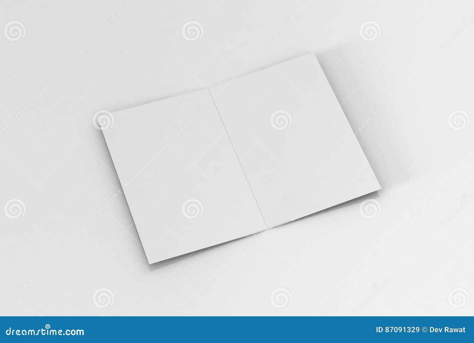 Брошюра Bi-створки A5/модель-макет листовки на изолированной белой предпосылке