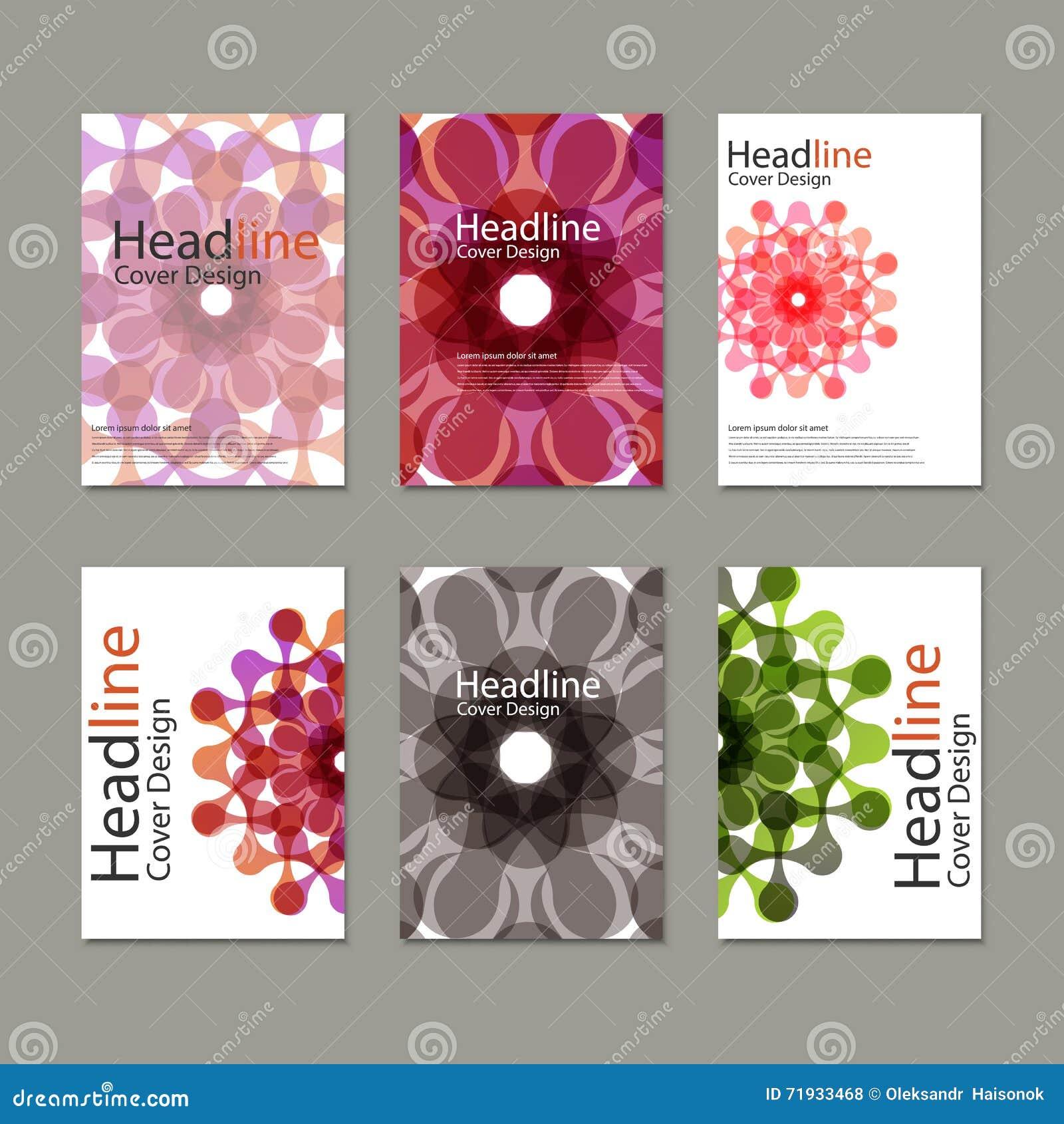 6 брошюр картины вектора с абстрактными диаграммами