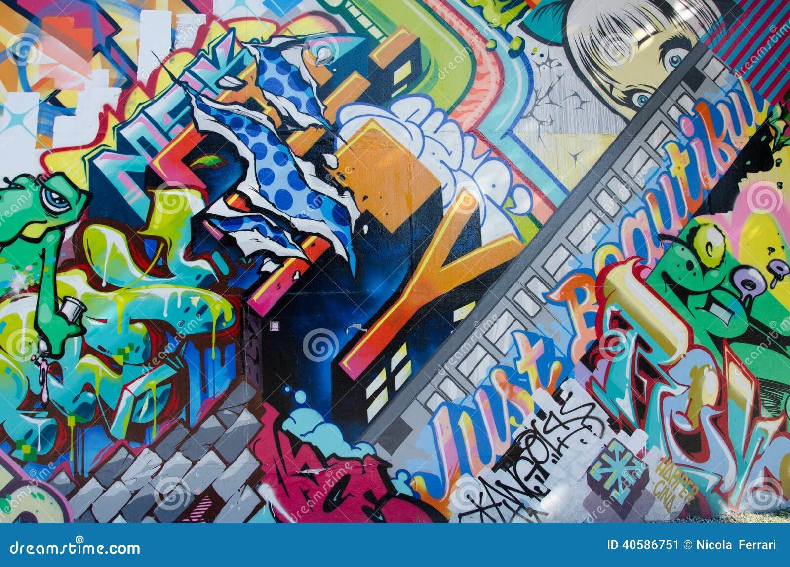 БРУКЛИН, NYC, США, 1-ое октября 2013: Искусство улицы в Бруклине Стена