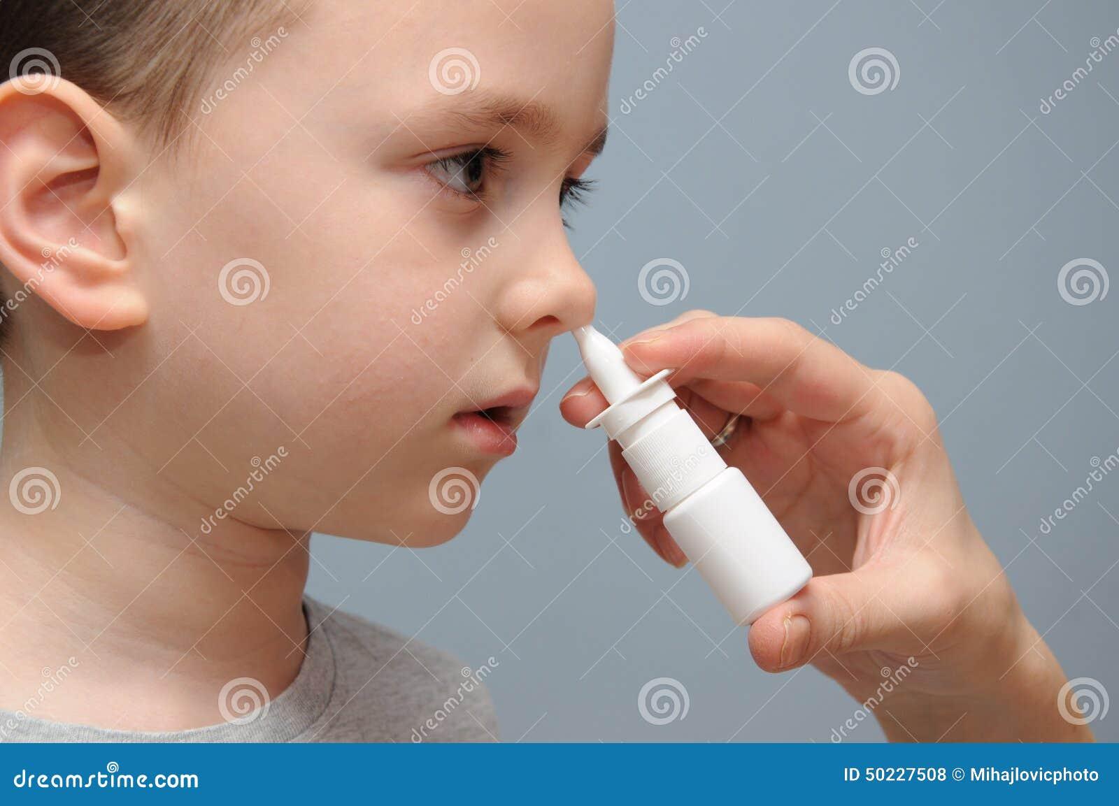 Брызг носа для детей