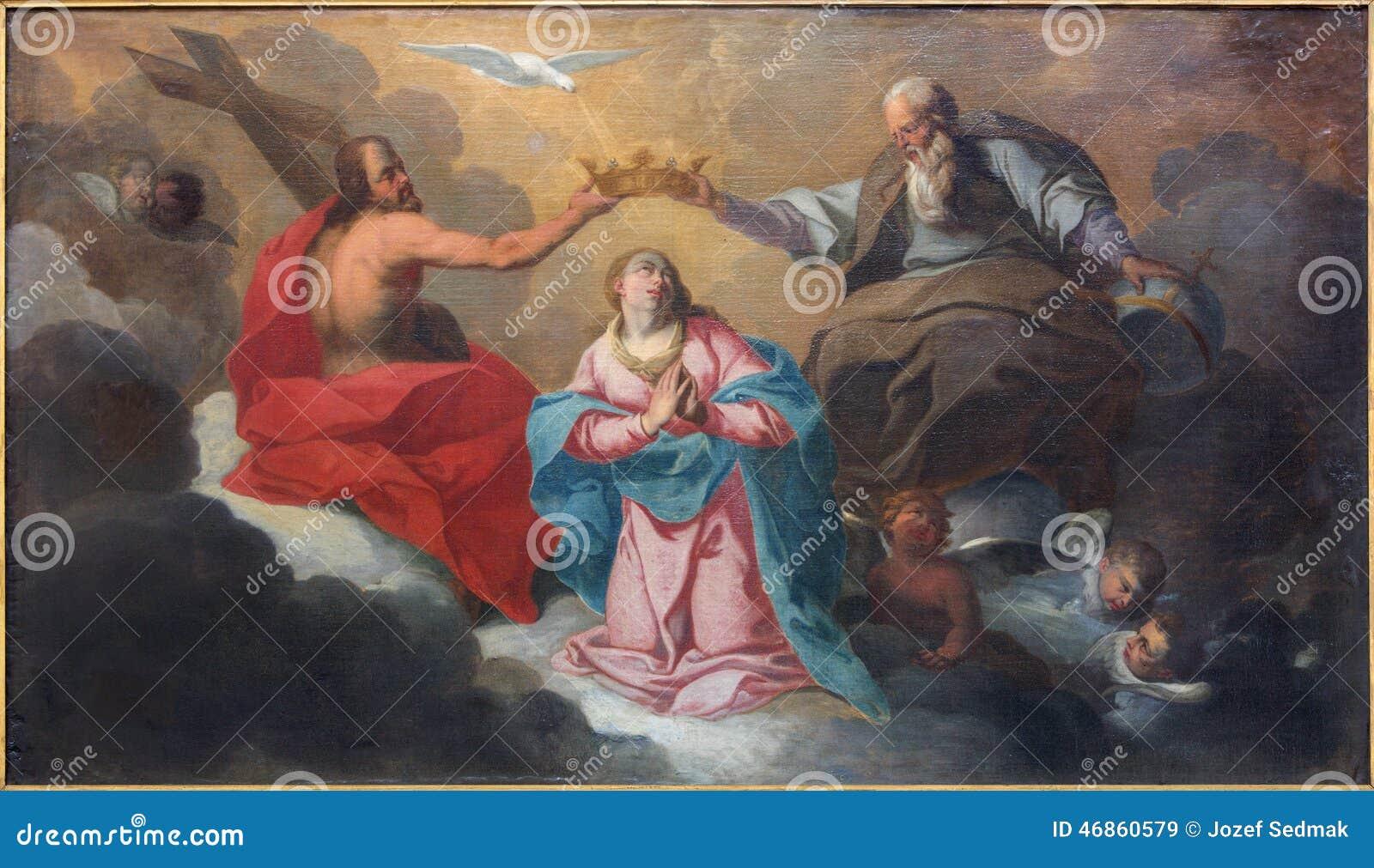Брюгге коронование краски девой марии j Garemijn (1750)