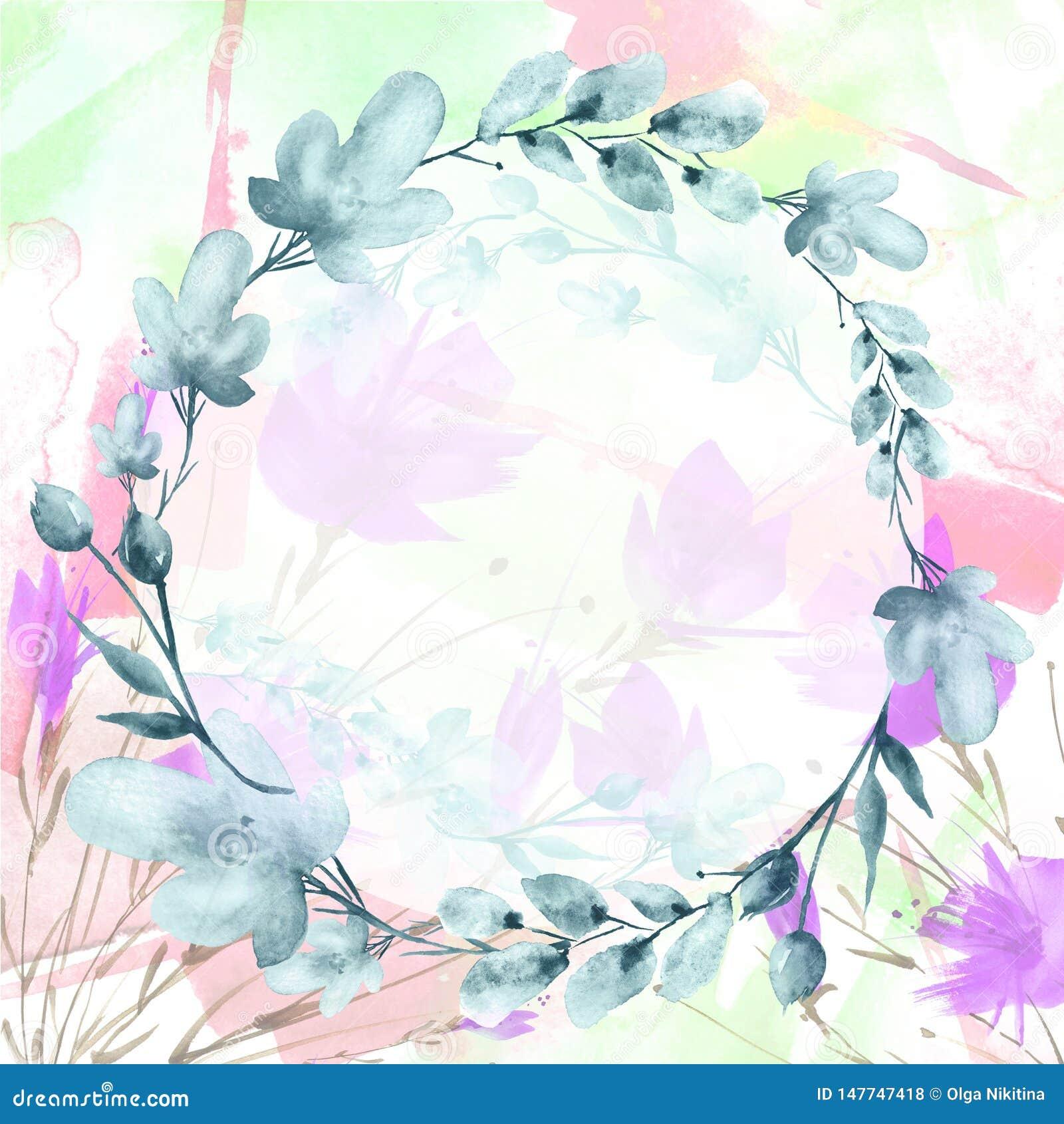 Букет акварели цветков