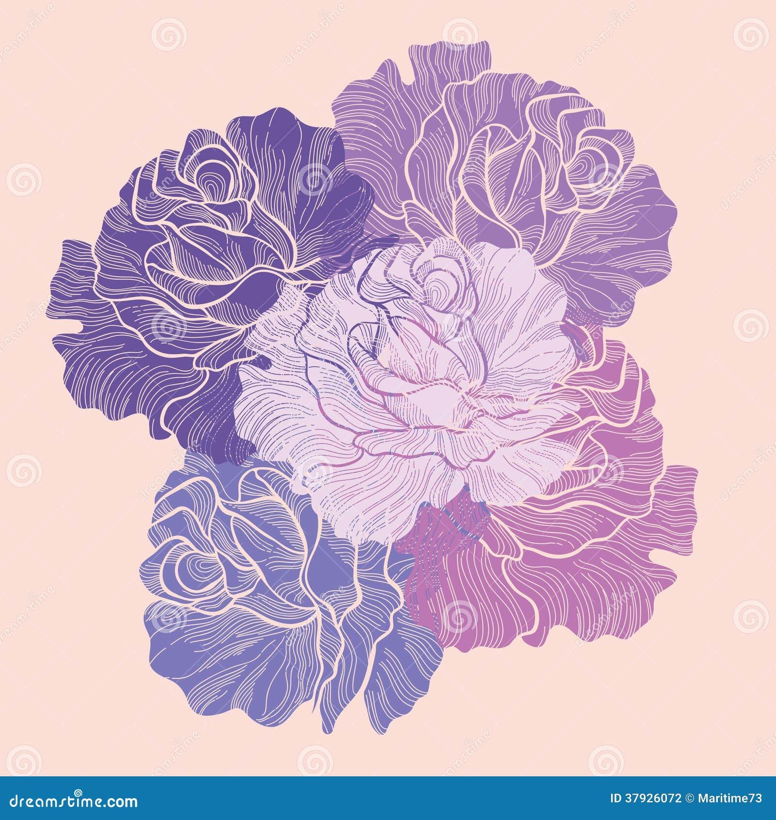 Букет роз. Иллюстрация вектора.