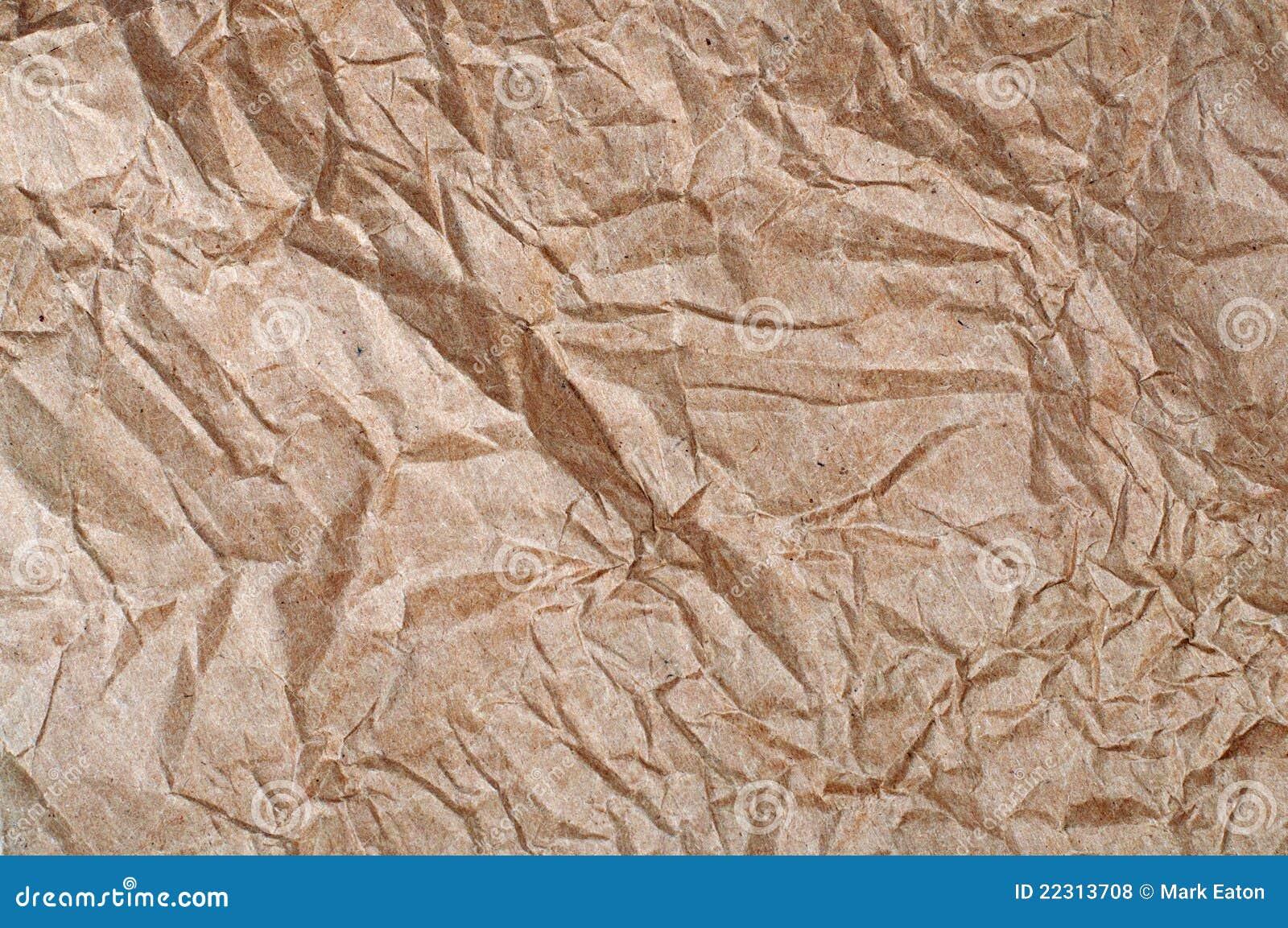 бумага скомканная коричневым цветом
