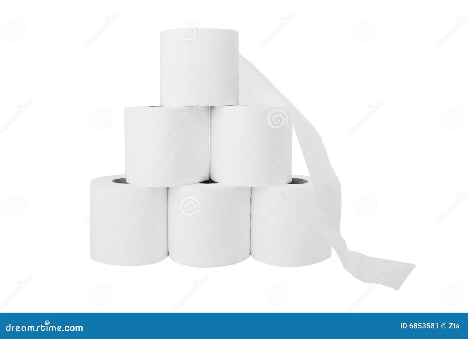 бумажная куча свертывает туалет