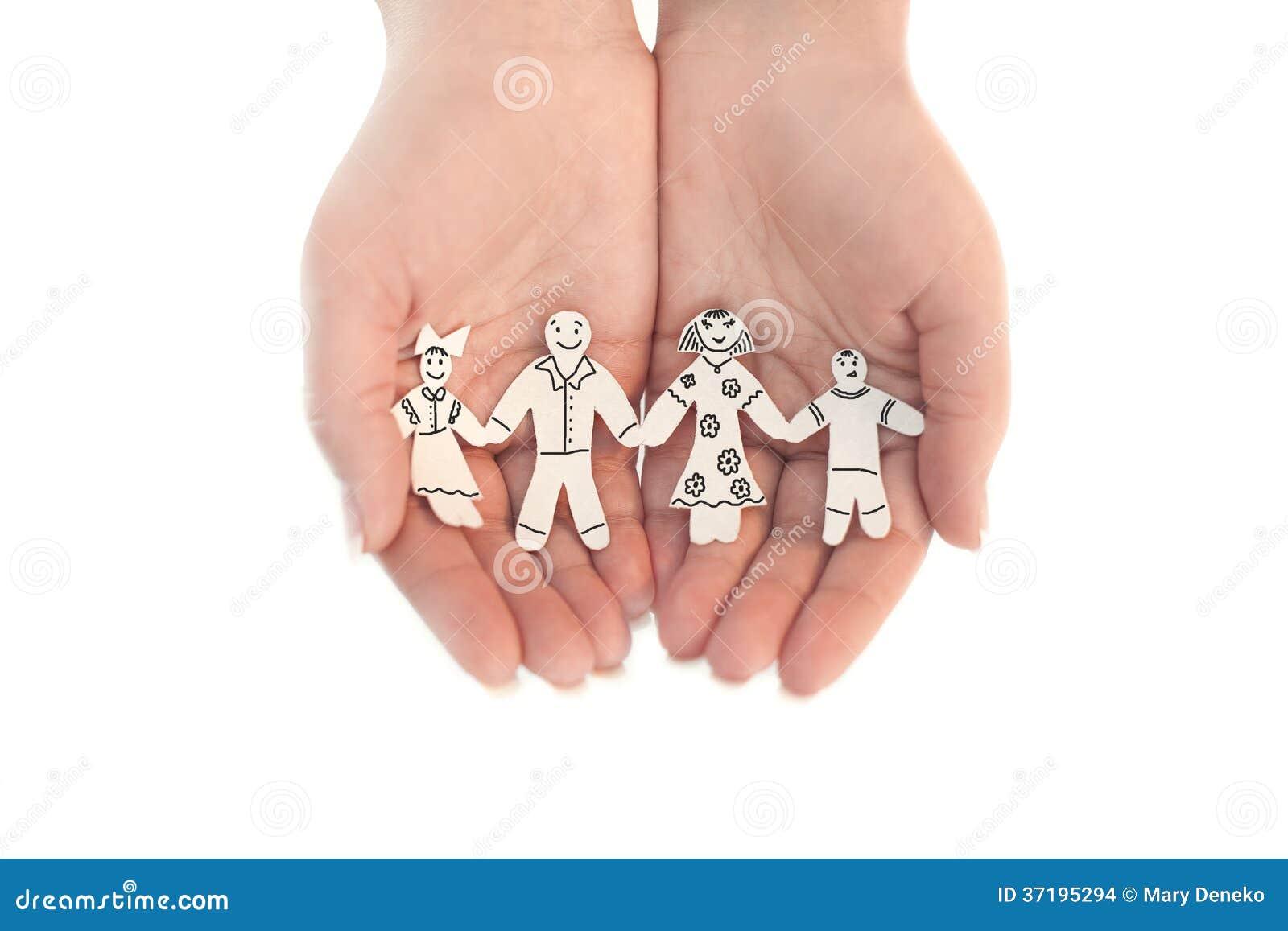 Бумажная цепная защищенная семья