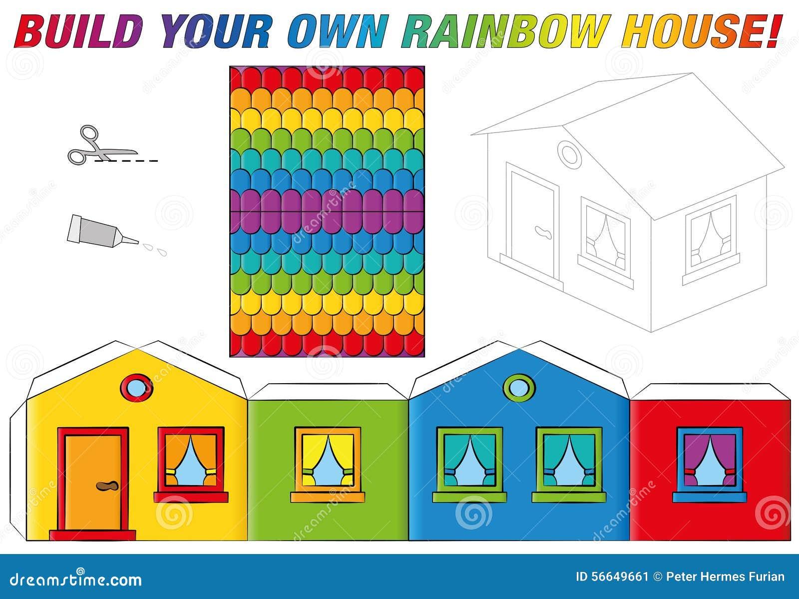 Схемы склеить домик из картона