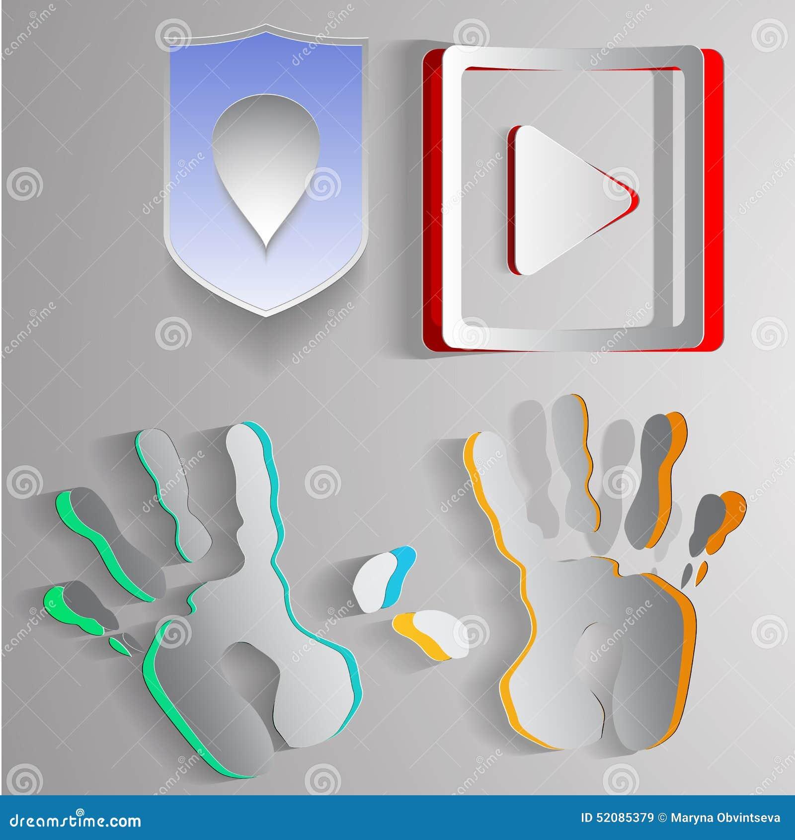 Бумажные логотипы