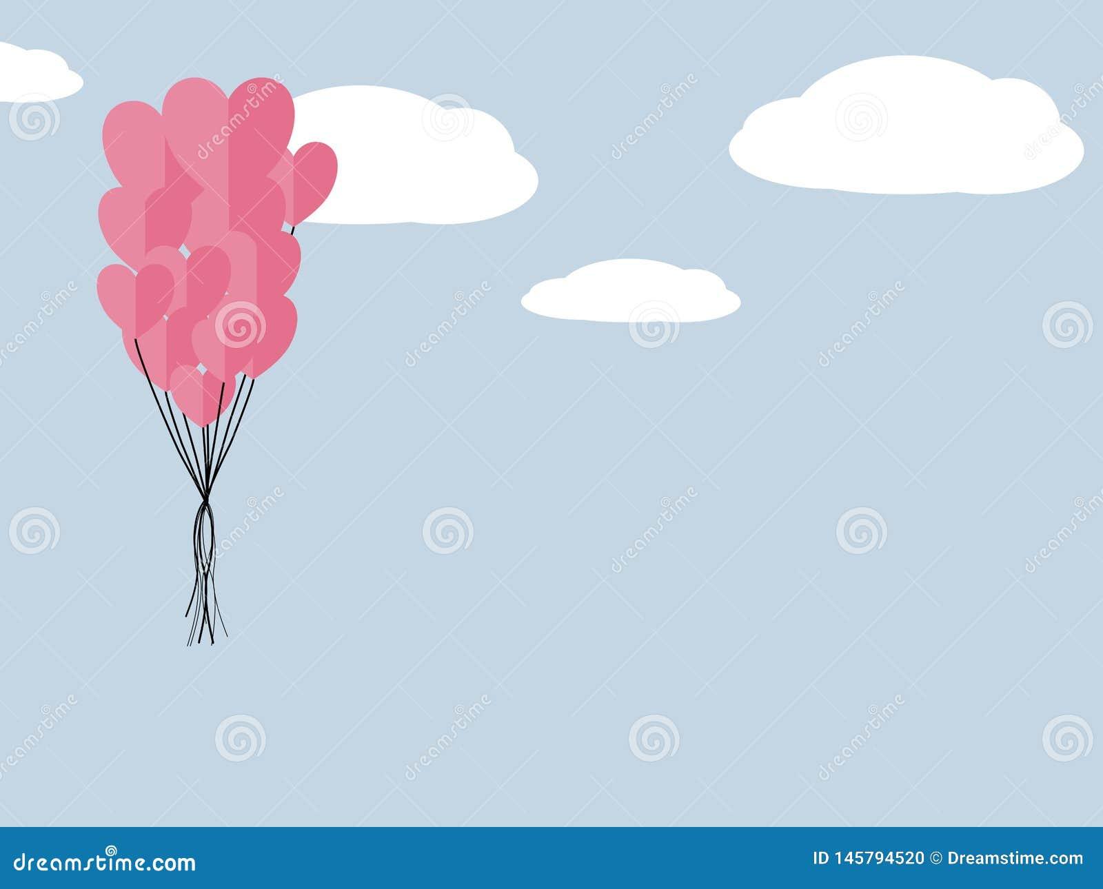 Бумажные элементы в форме летания сердца символы любов