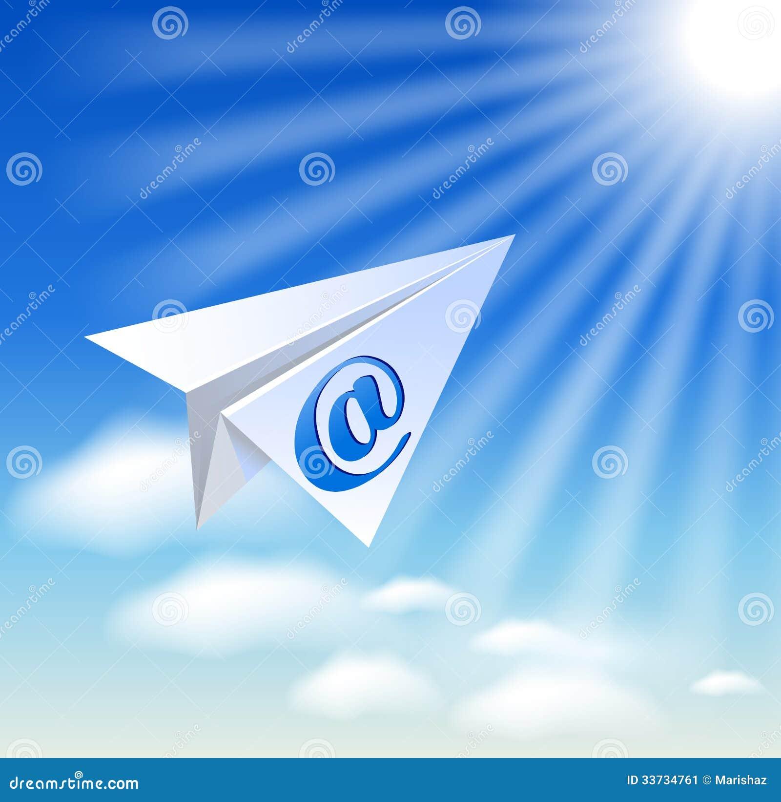 Бумажный самолет с sig электронной почты