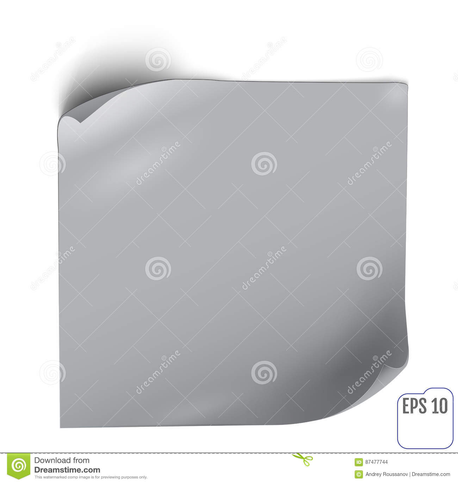 Бумажный стикер с тенью Пустые знамя сети или ярлык скручиваемости на whi
