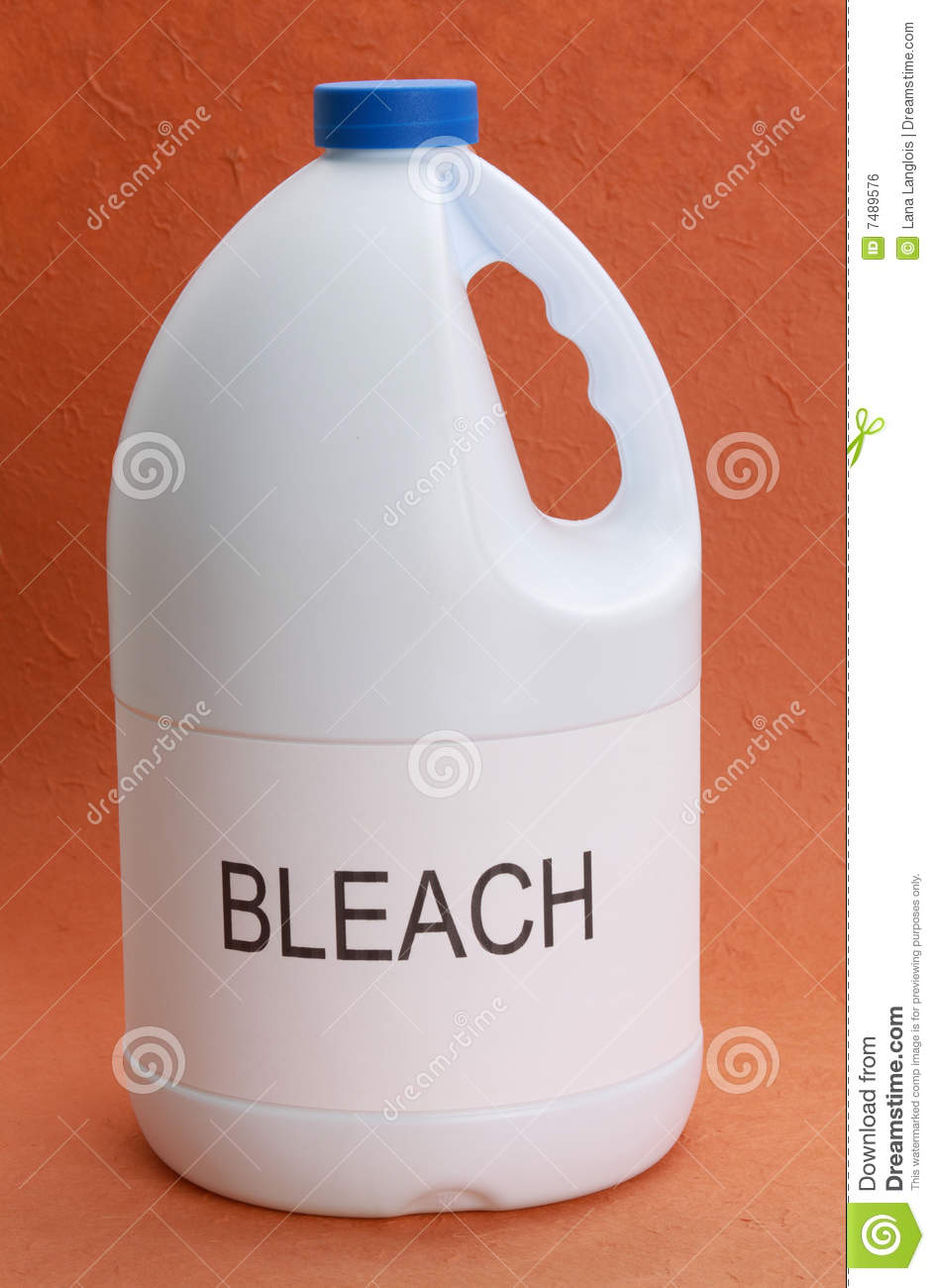 Clean up cat pee with bleach
