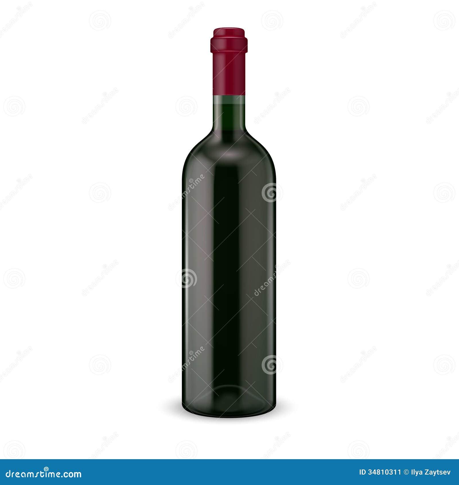 Бутылка красного вина.
