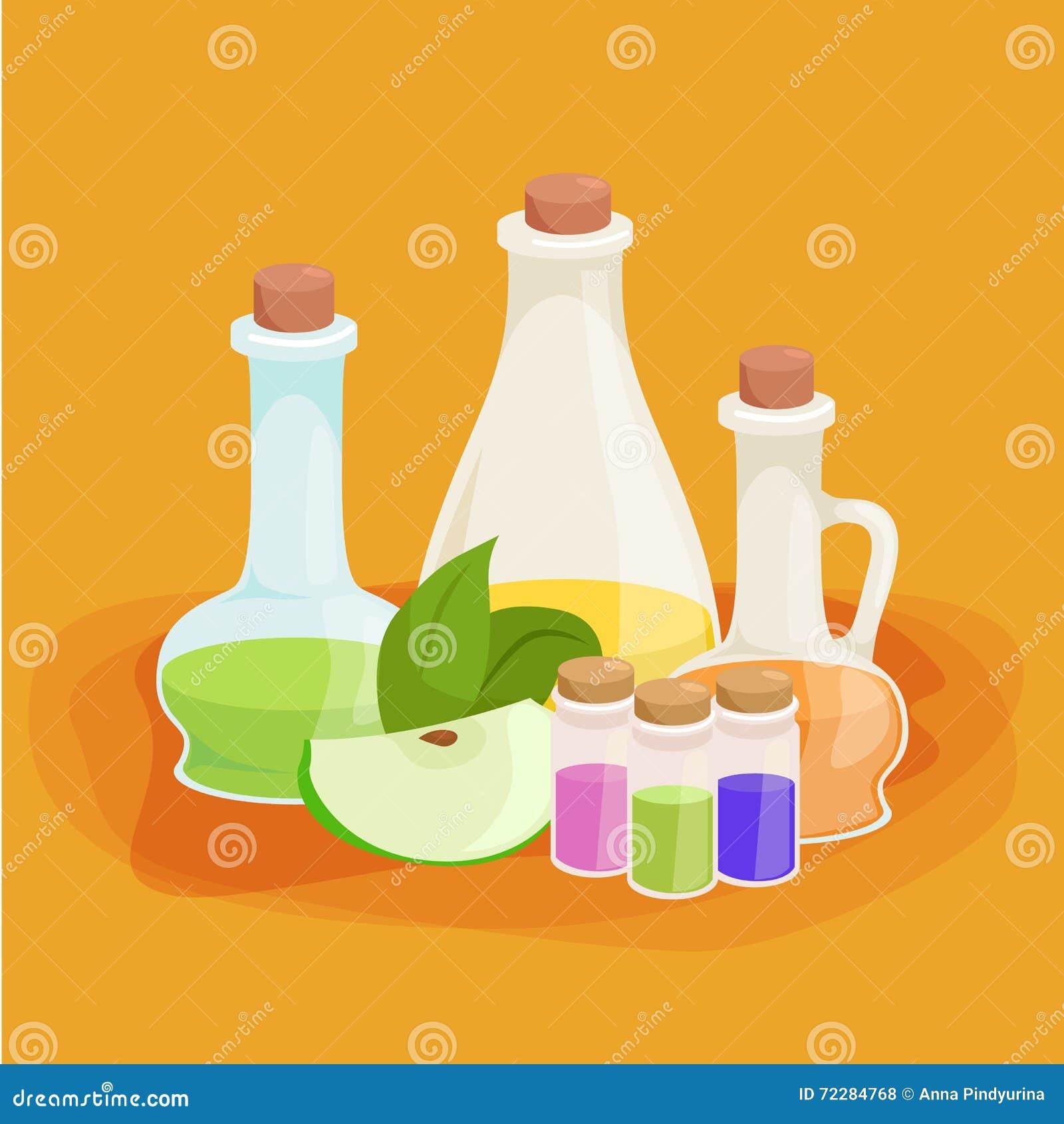Download Бутылки с органическим необходимым комплектом бара масла и мыла ароматности Иллюстрация вектора - иллюстрации насчитывающей изображение, лаванда: 72284768