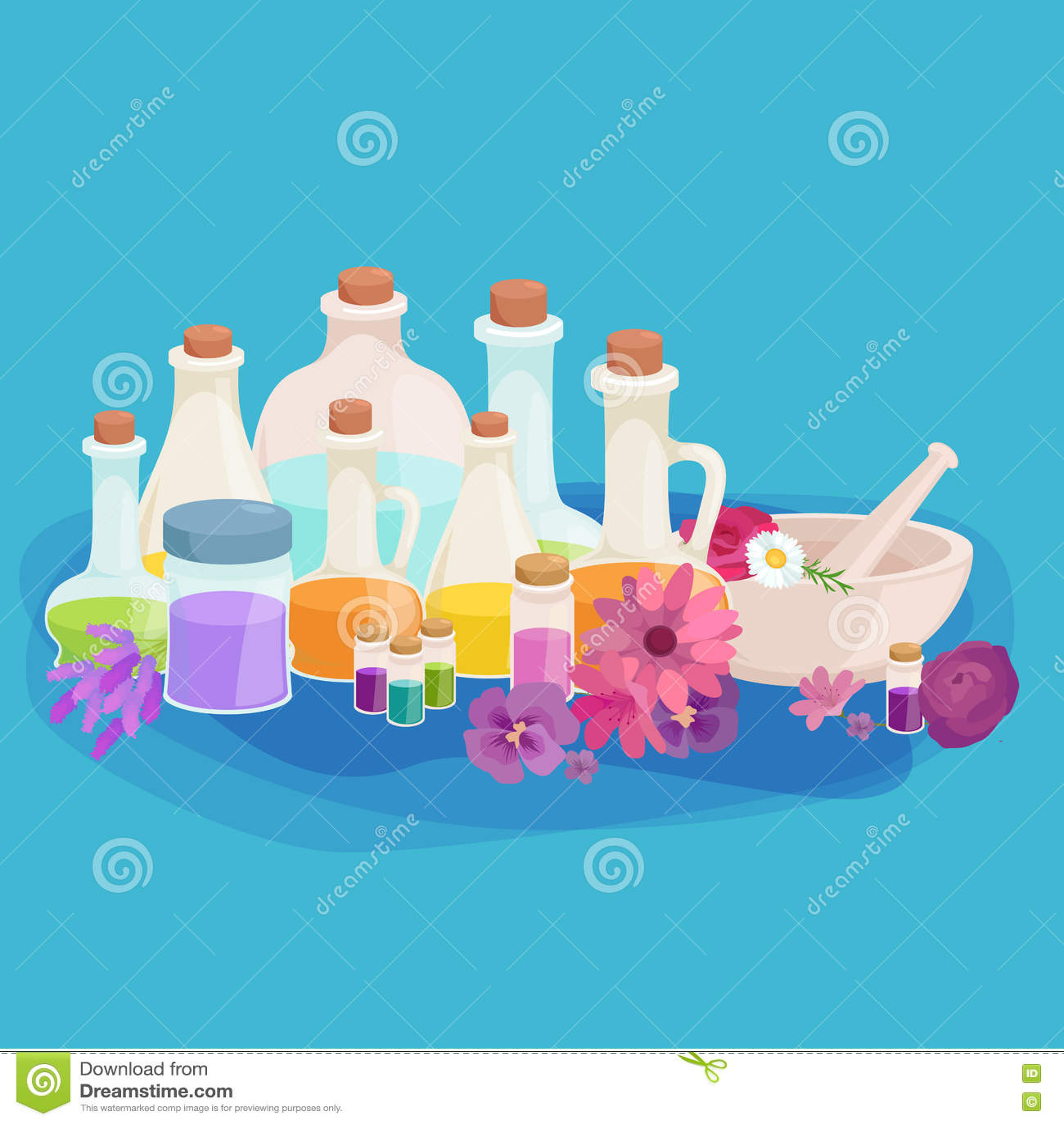 Download Бутылки с органическим необходимым комплектом бара масла и мыла ароматности Иллюстрация вектора - иллюстрации насчитывающей суть, лаванда: 72285008
