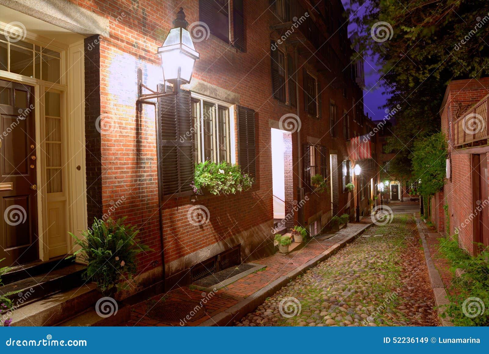 Булыжник Бостон холма маяка улицы жолудя