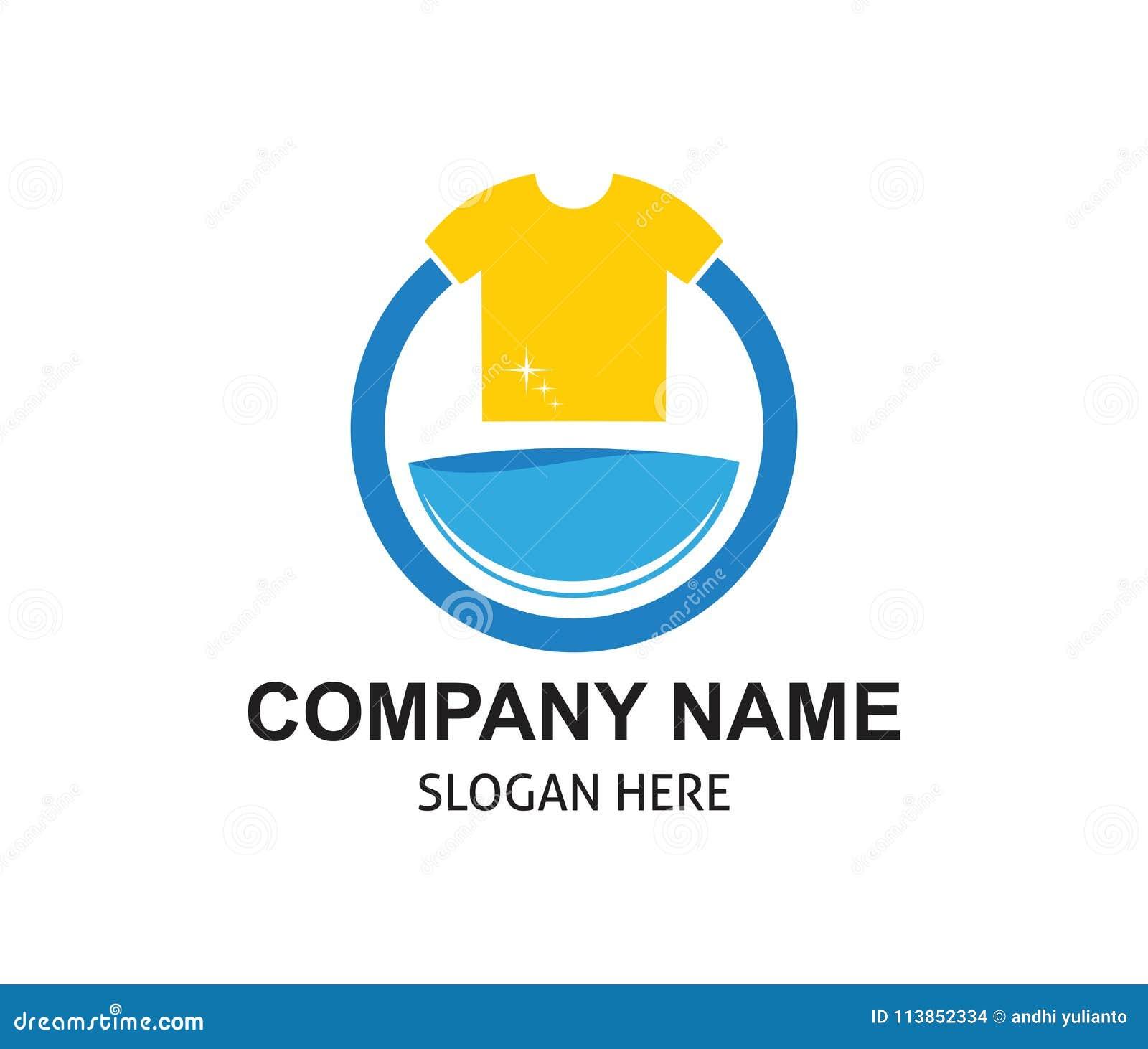 быстрый и чистый дизайн логотипа прачечной