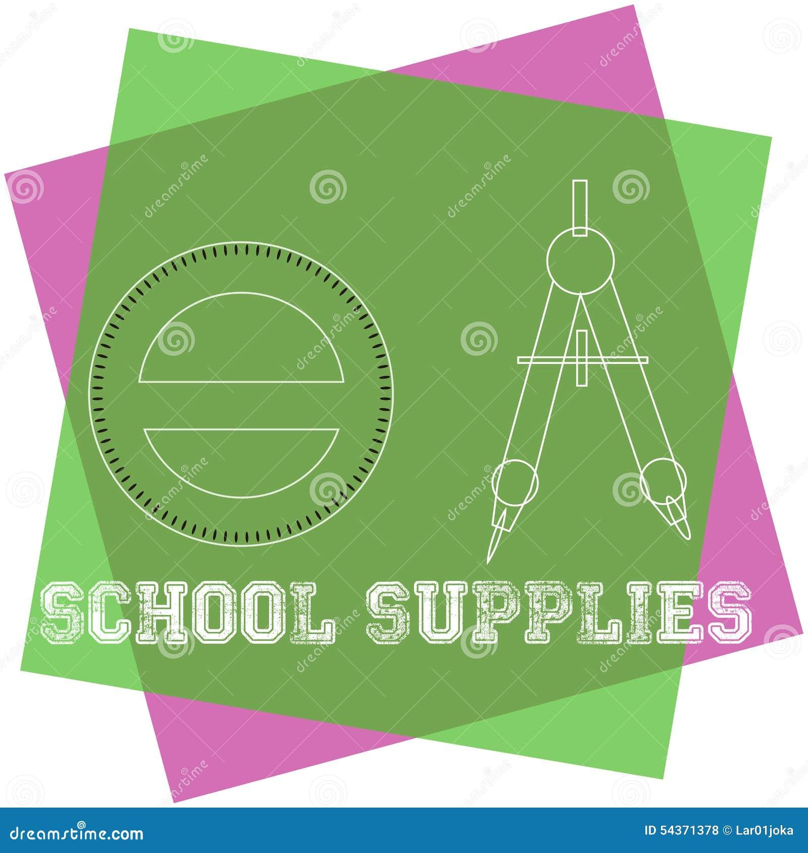 близкие поставкы школы транспортира компаса вверх