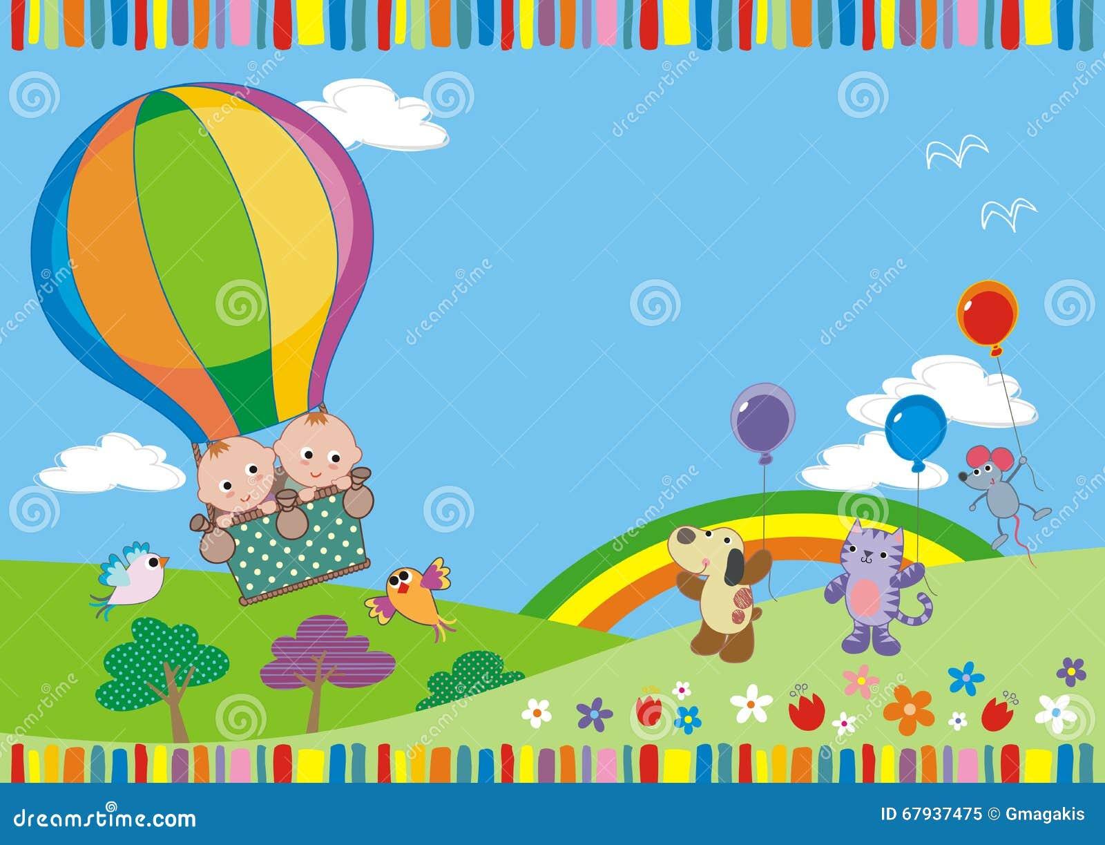Близнецы в воздушном шаре