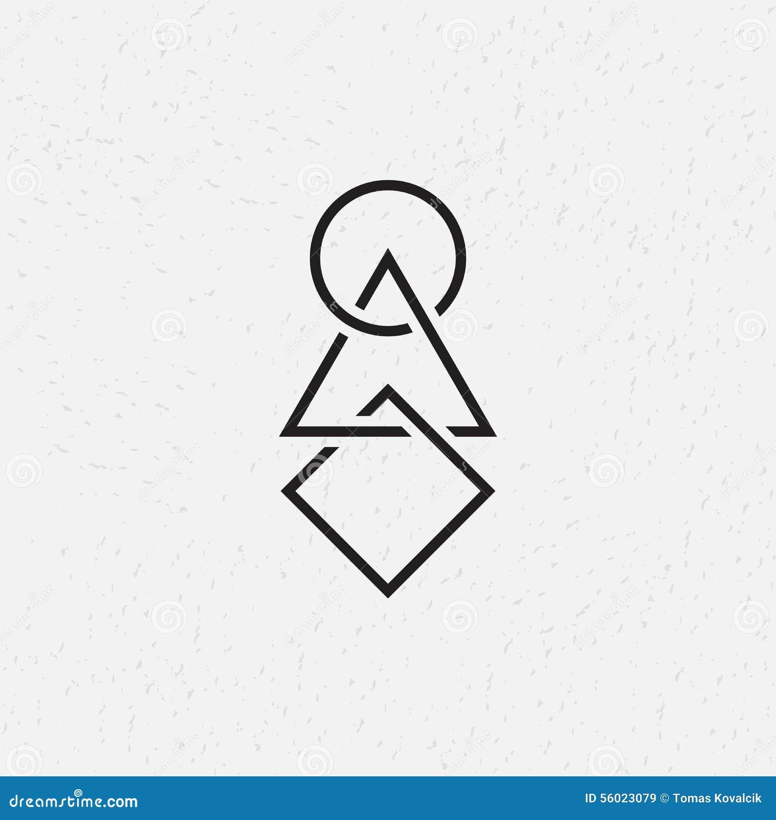 Блокировать круг, треугольник и квадрат, геометрические символы