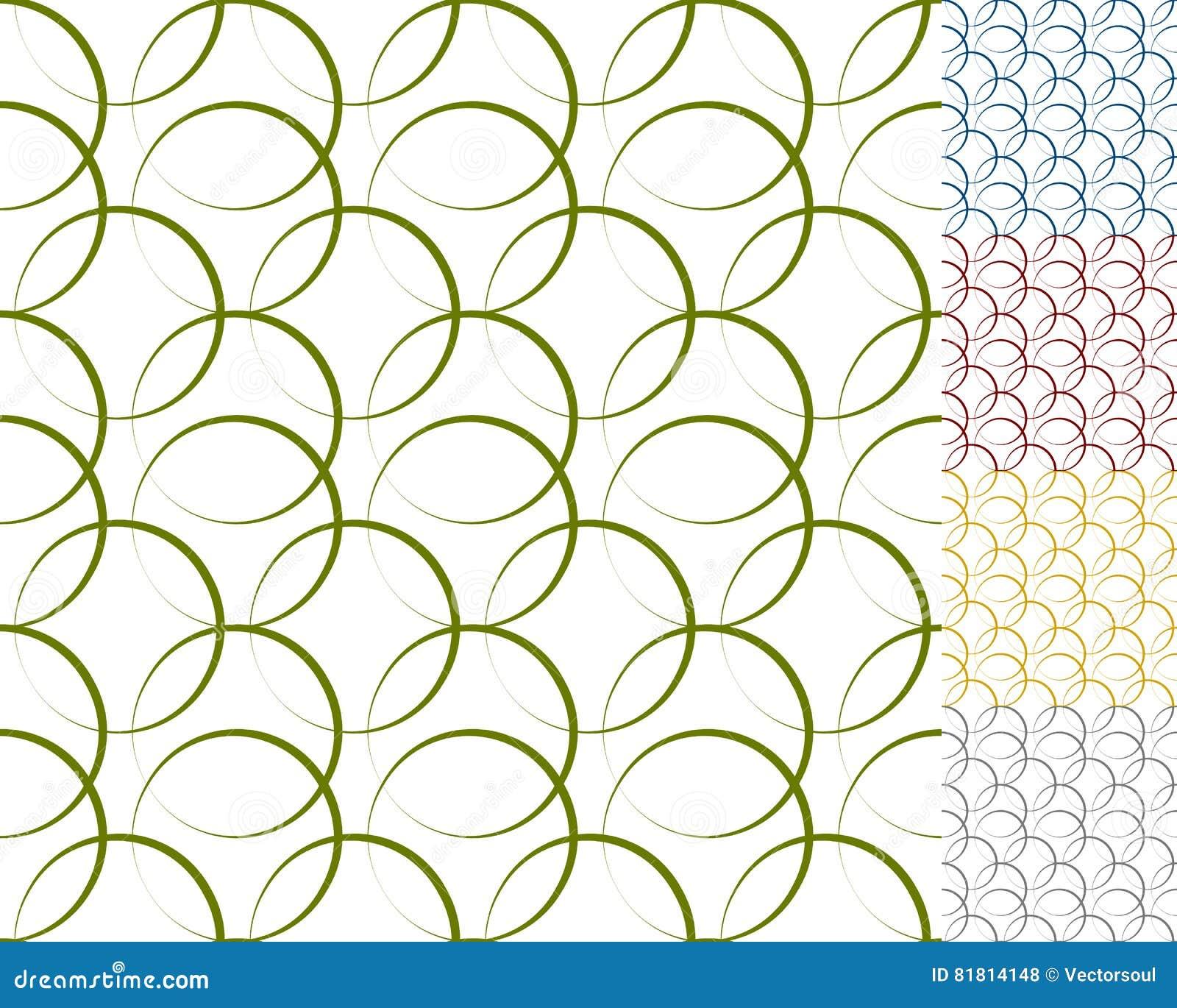 Блокируя круги, кольца с динамическим планом - комплектом шва 5