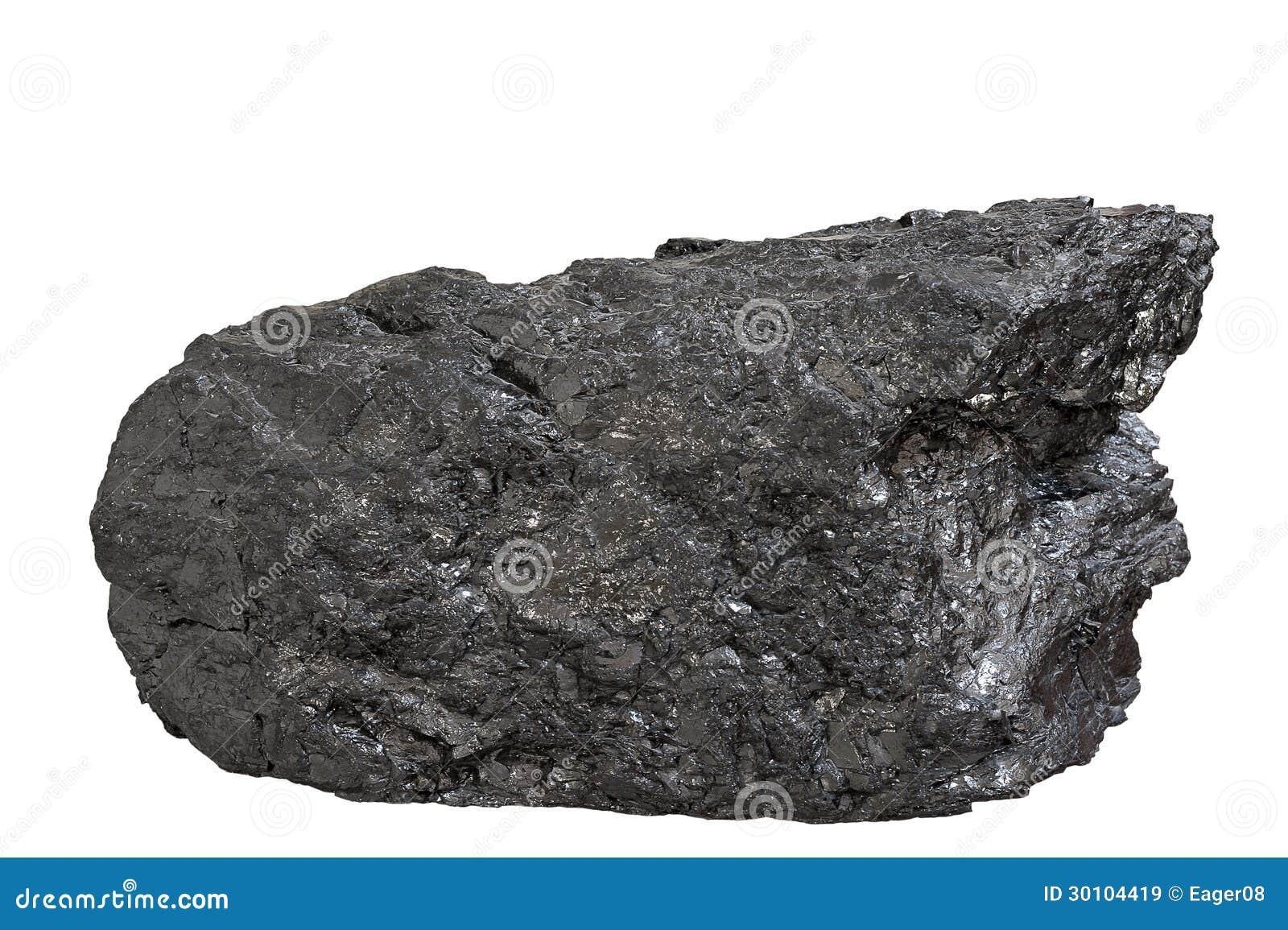 Блок антрацита угля